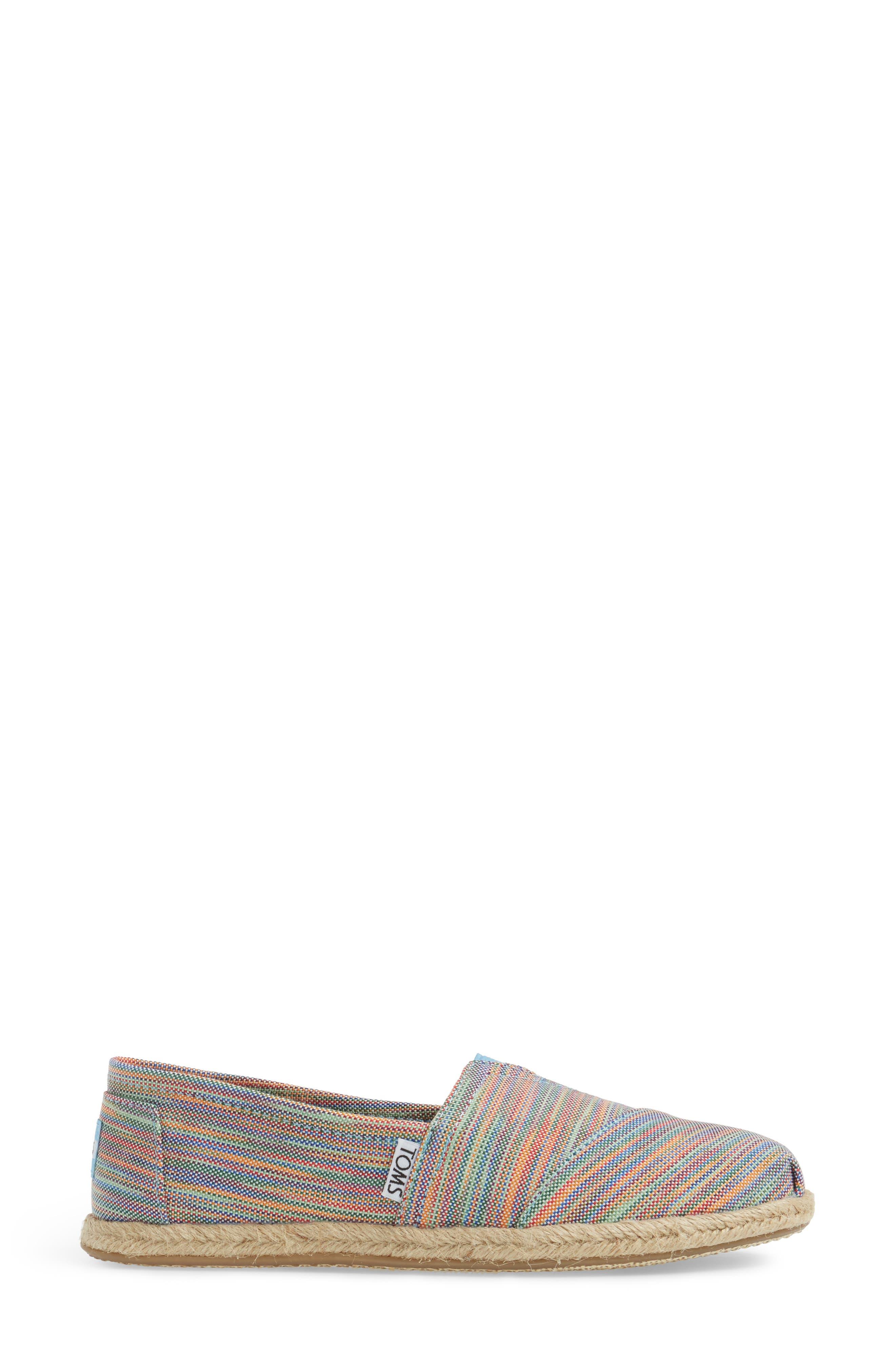 Alpargata Slip-On,                             Alternate thumbnail 3, color,                             Blue Stripe