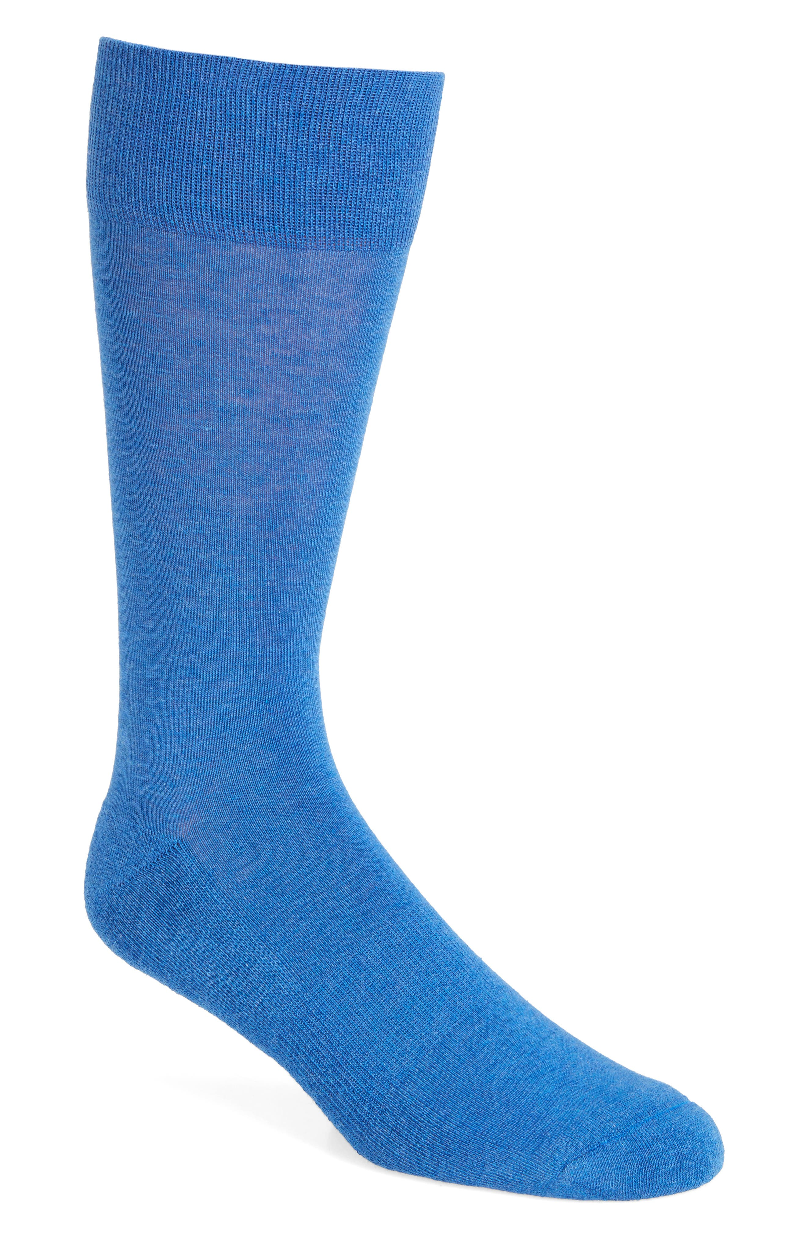 Cushion Foot Arch Support Socks,                         Main,                         color, Blue Cobalt