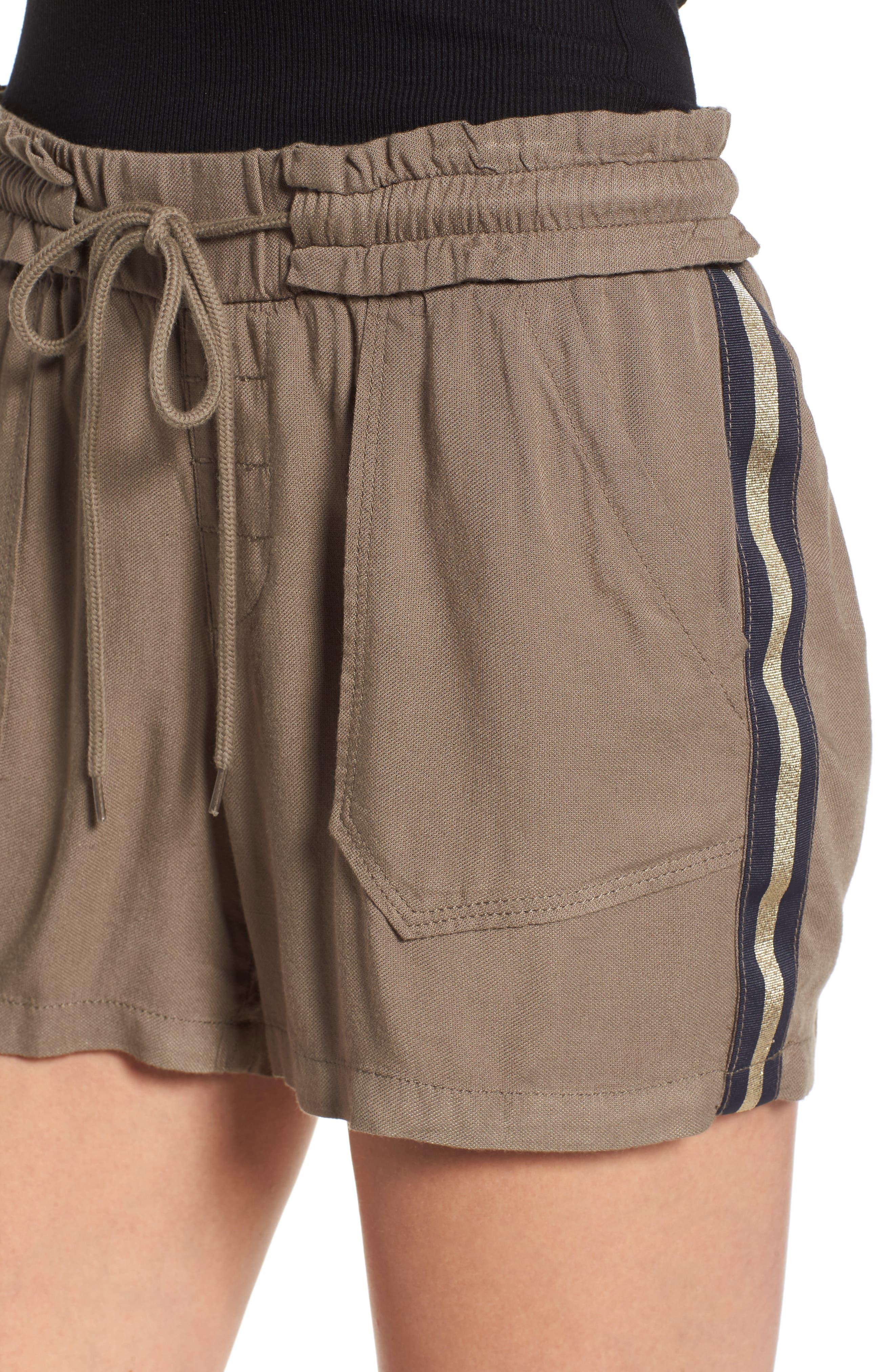 Drawstring Shorts,                             Alternate thumbnail 4, color,                             Brinde Olive