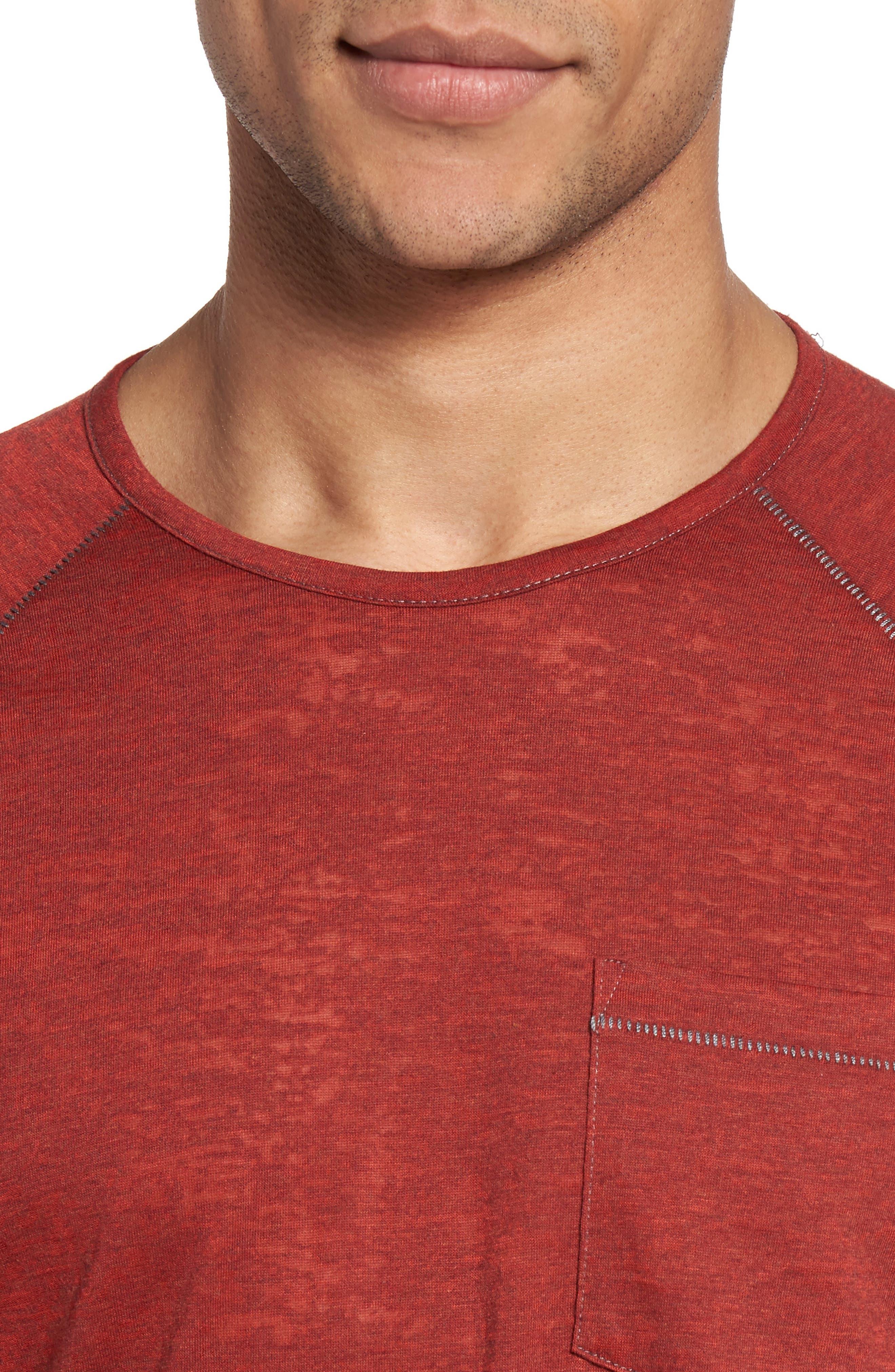 Raglan Sleeve T-Shirt,                             Alternate thumbnail 4, color,                             Tomato