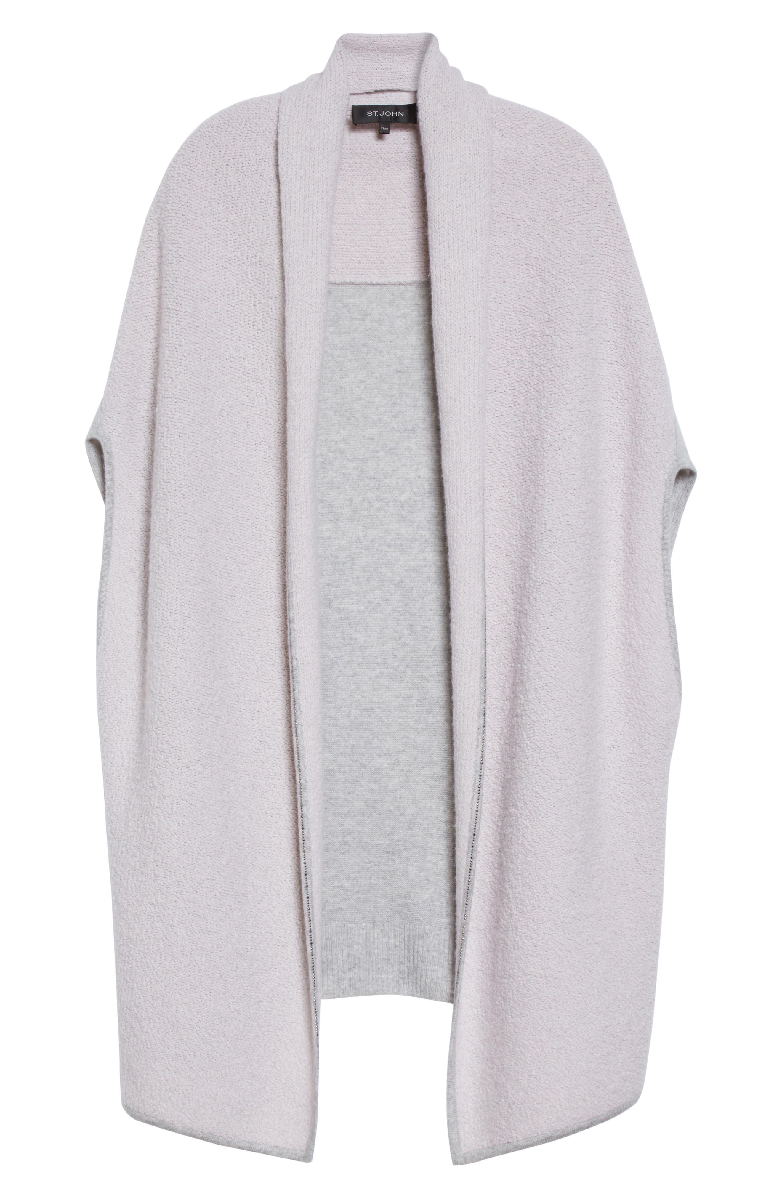 Alternate Image 6  - St. John Collection Cashmere Jersey Cardigan