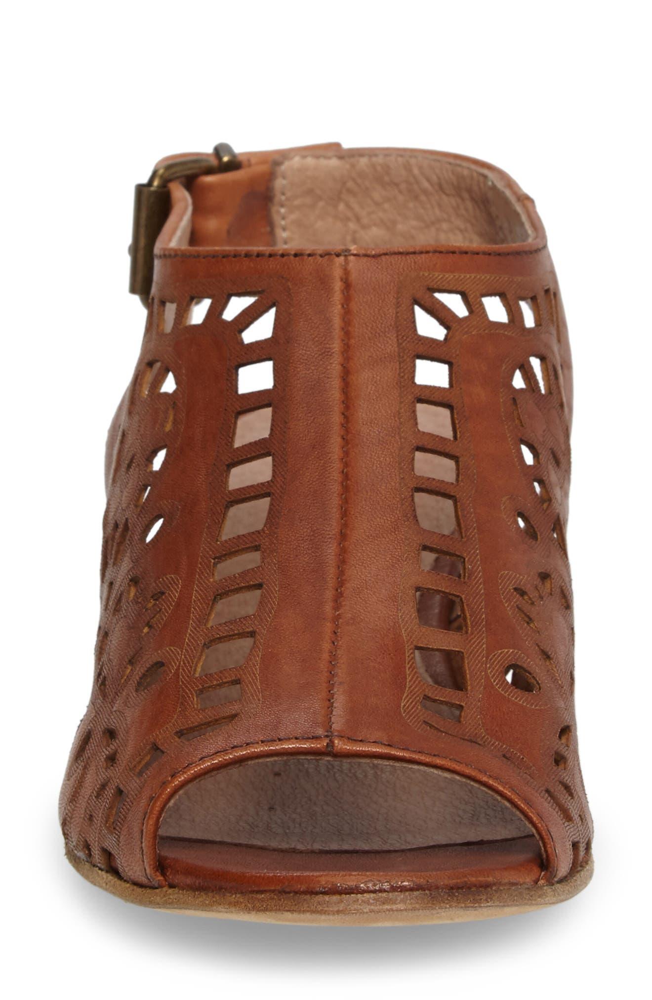 Ally Slingback Sandal,                             Alternate thumbnail 4, color,                             Cognac Leather