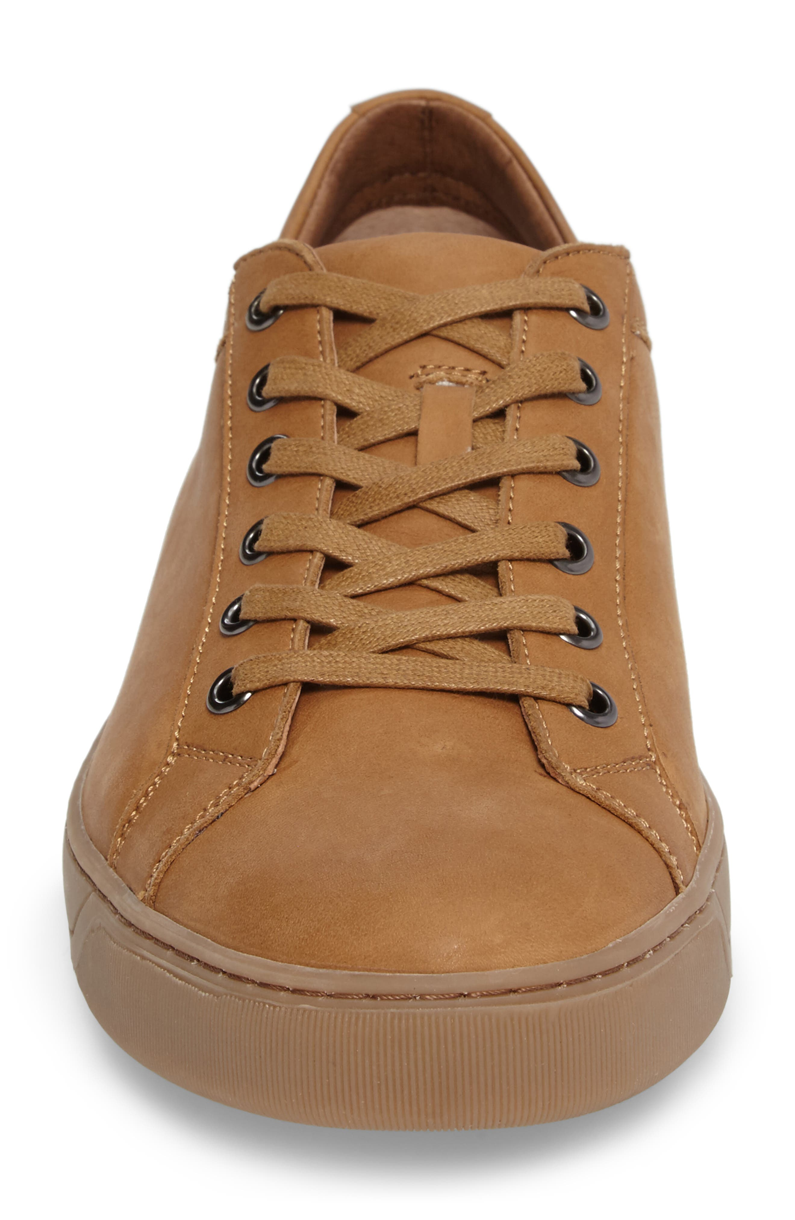 Allister Sneaker,                             Alternate thumbnail 5, color,                             Natural Leather