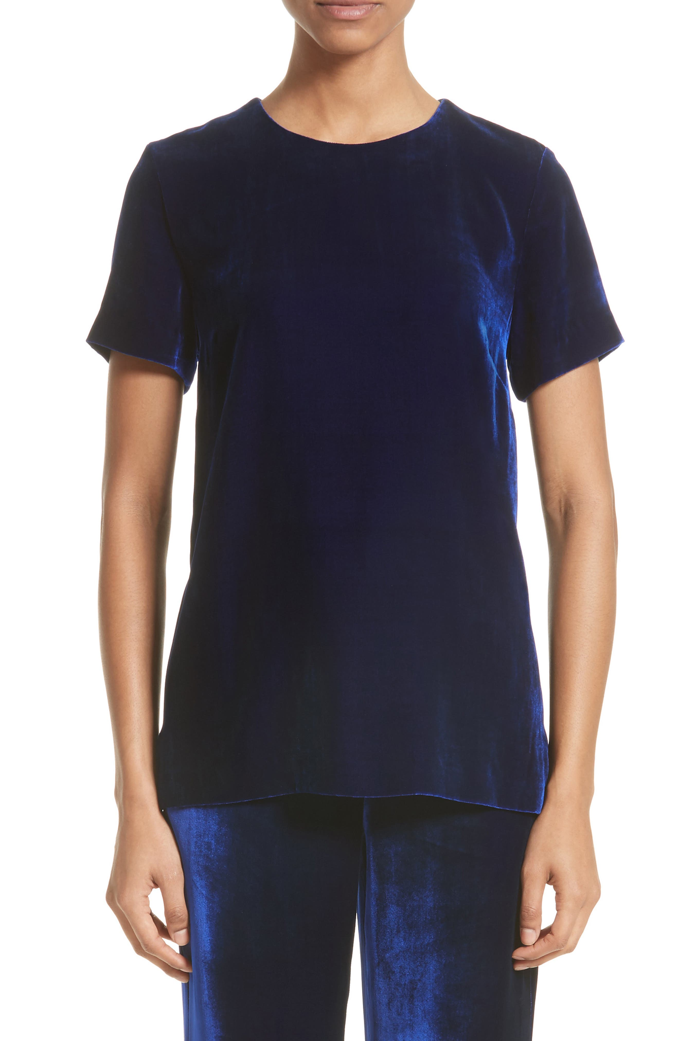 St. John Collection Velvet Top