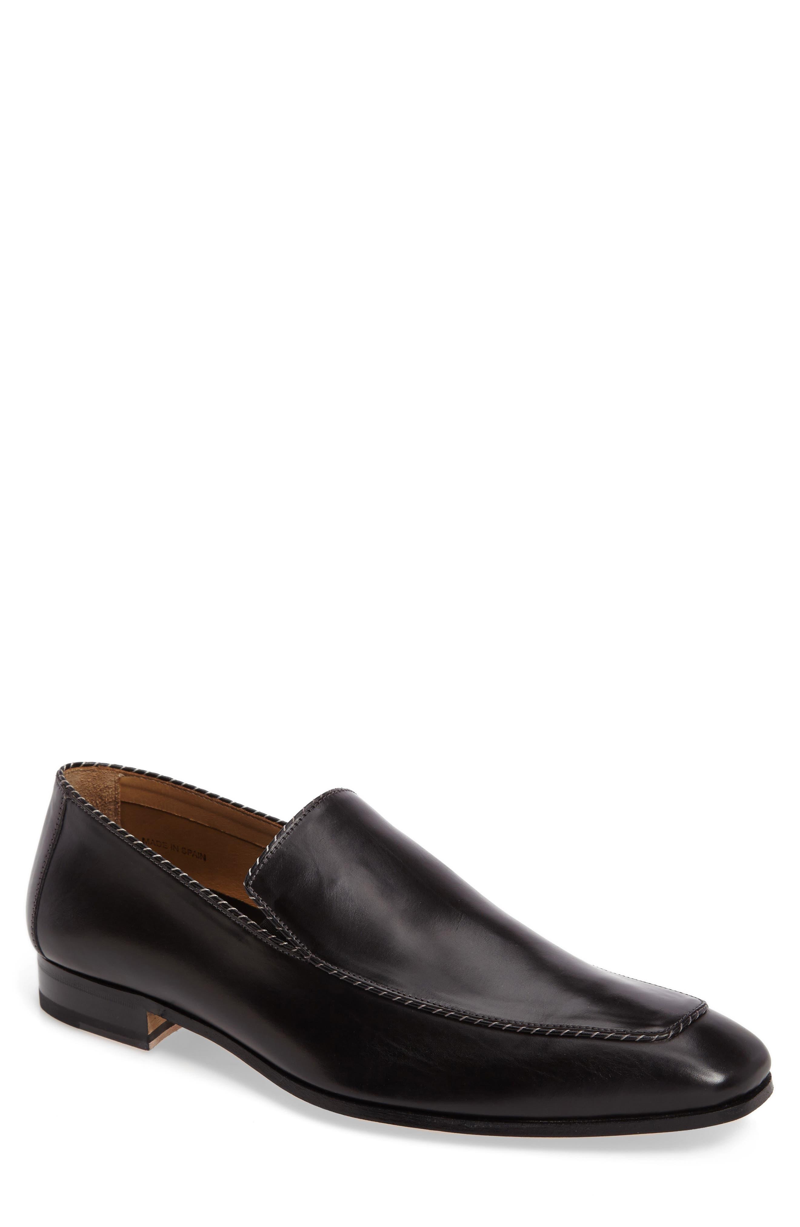 Brandt Venetian Loafer,                         Main,                         color, Black Leather