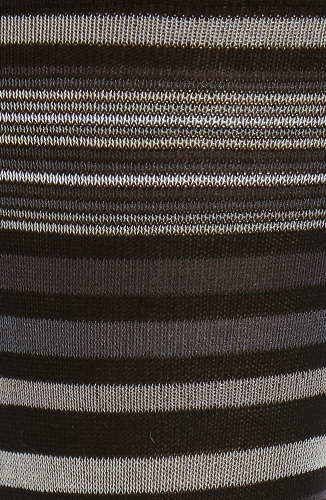 Alternate Image 2  - Bugatchi Thin Stripe Crew Socks