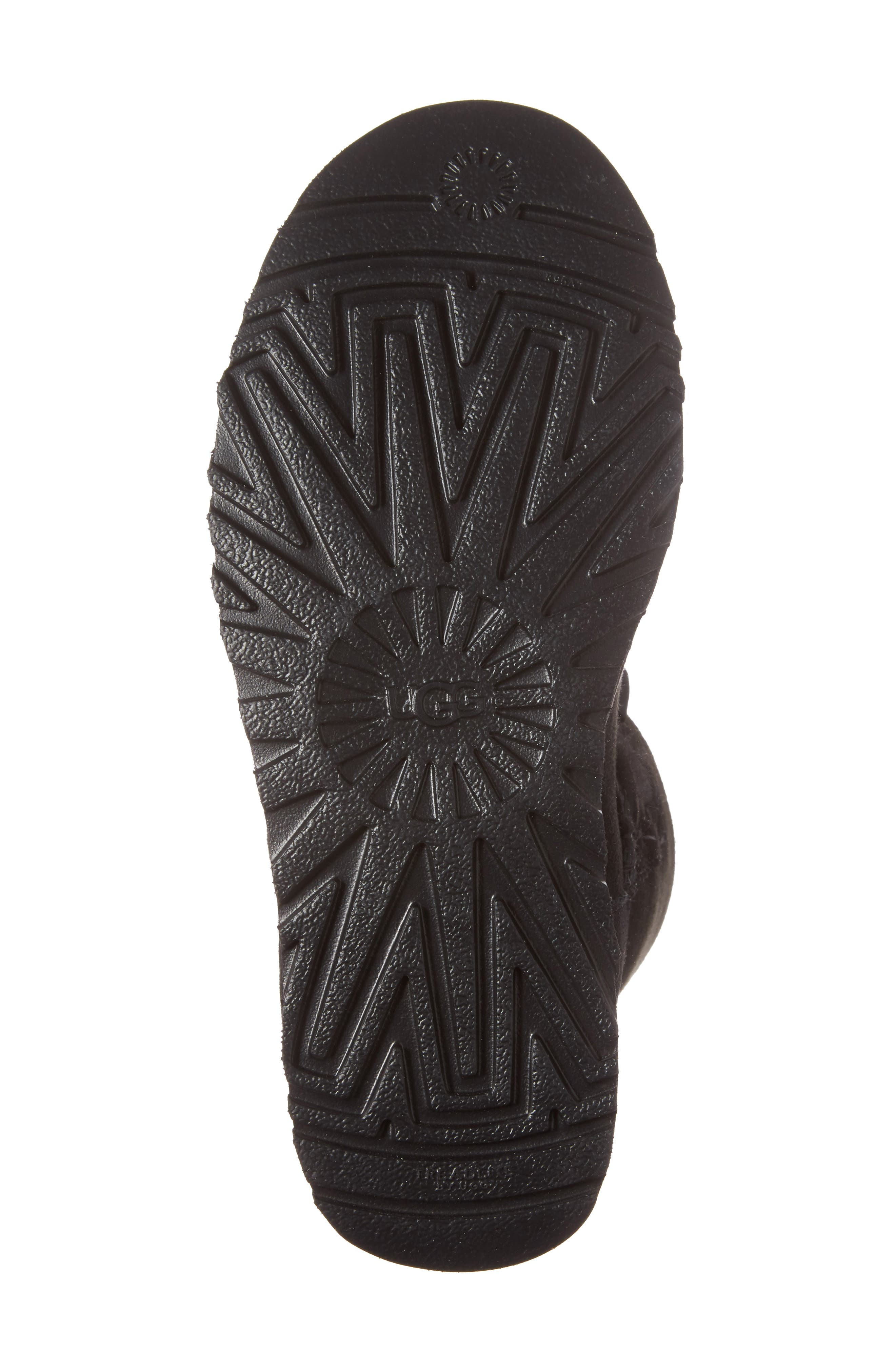 Gita Genuine Shearling Boot,                             Alternate thumbnail 6, color,                             Black Suede