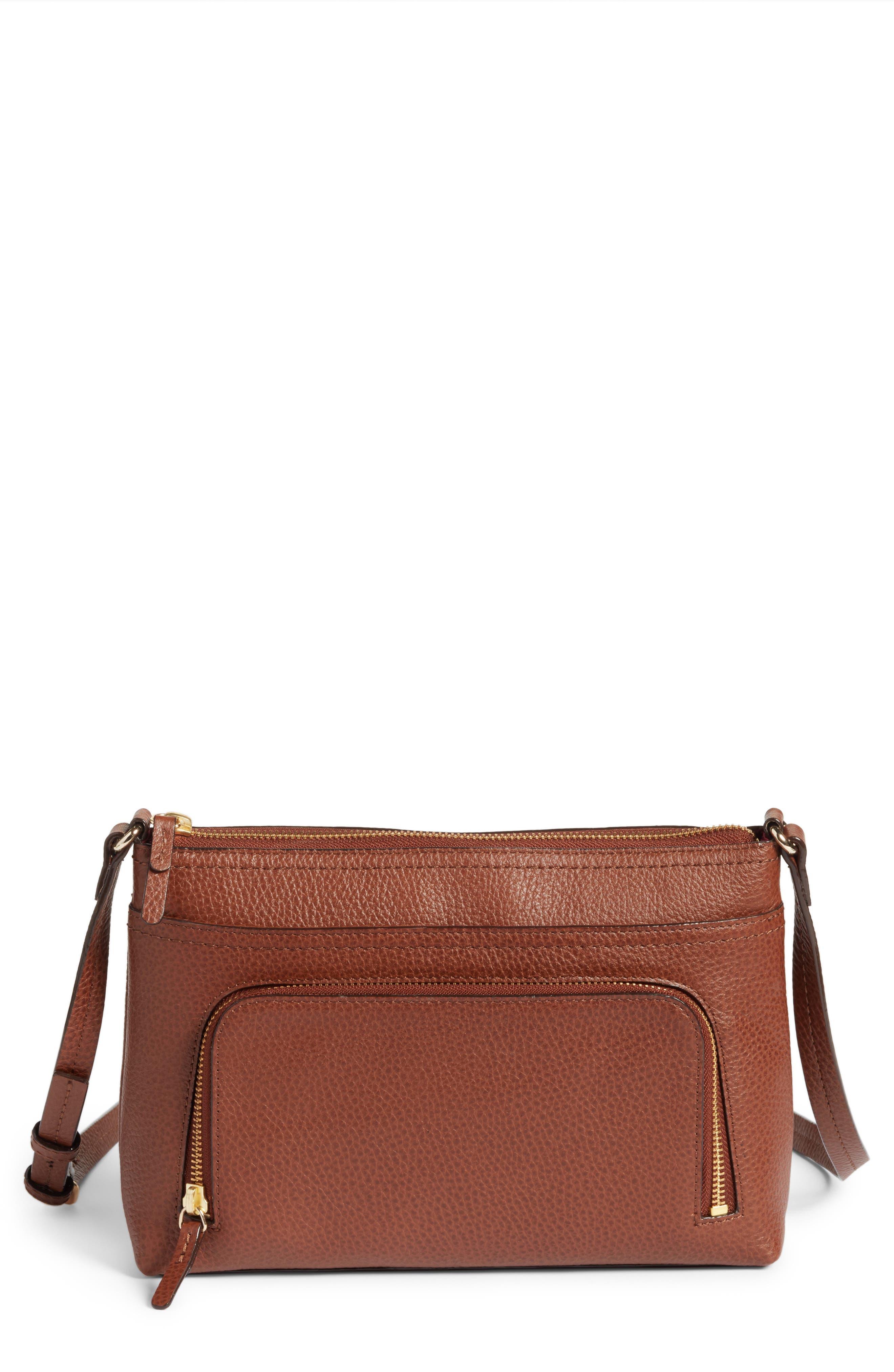 Alternate Image 1 Selected - Nordstrom Pebbled Leather Crossbody Bag