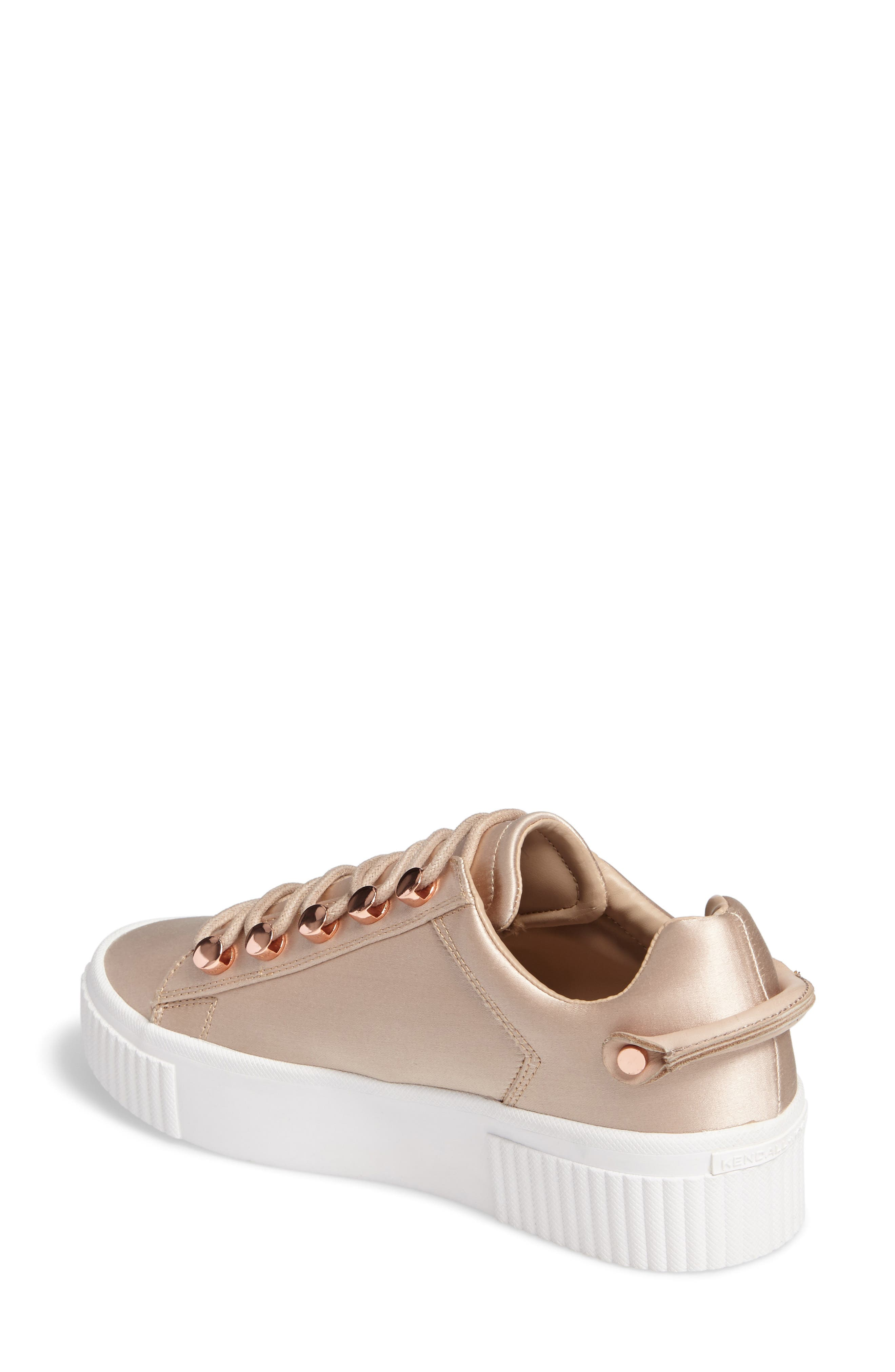 Rae 3 Platform Sneaker,                             Alternate thumbnail 2, color,                             Blush Satin