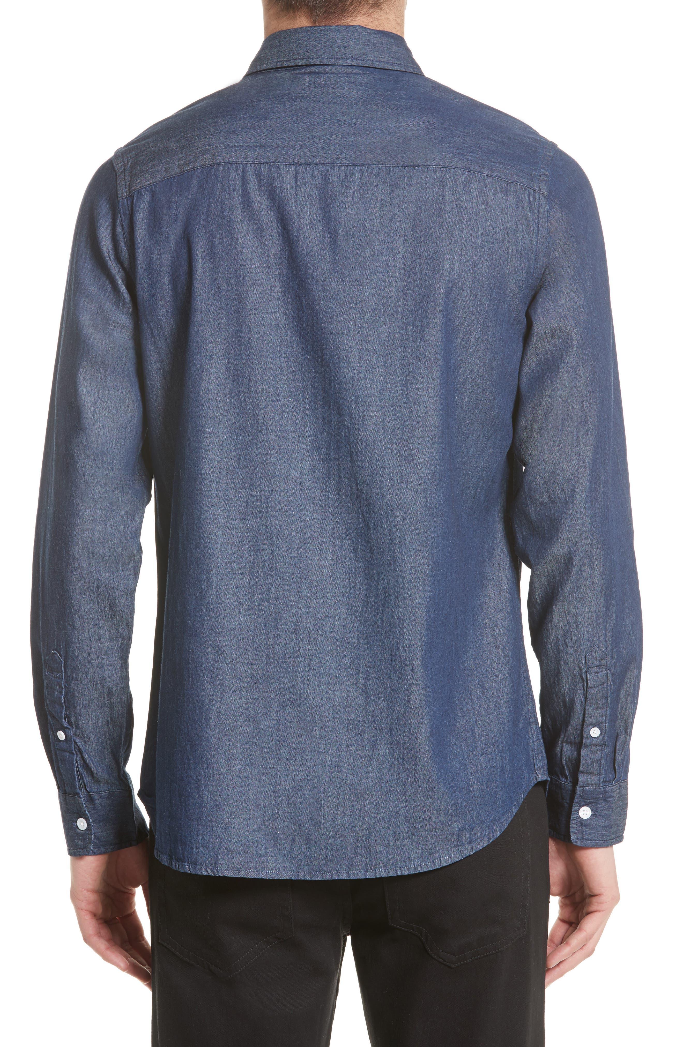 Crosby Denim Slim Fit Sport Shirt,                             Alternate thumbnail 2, color,                             Indigo