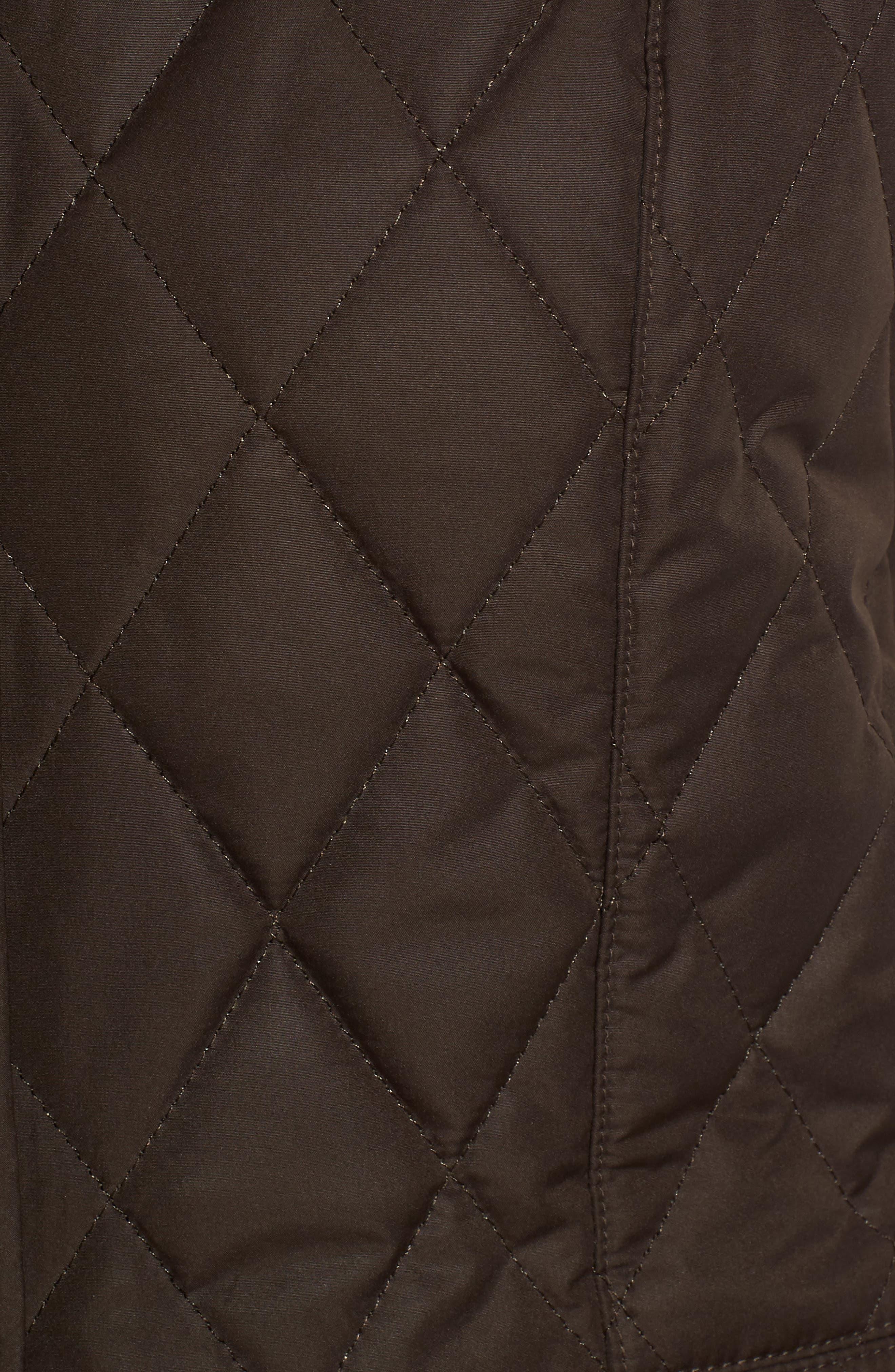 Saddleworth Quilted Vest,                             Alternate thumbnail 5, color,                             Olive