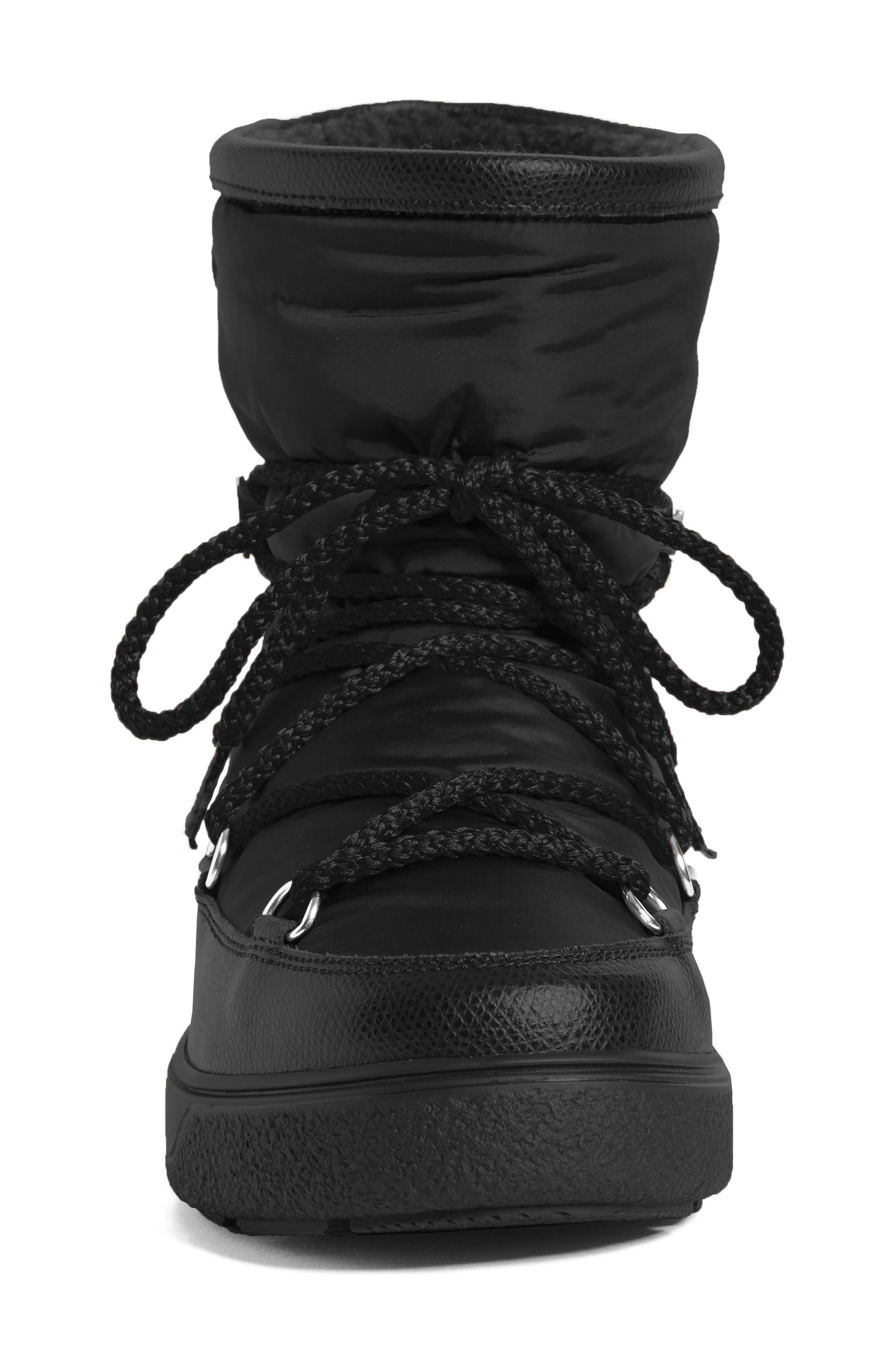 New Fanny Stivale Short Moon Boots,                             Alternate thumbnail 4, color,                             Black