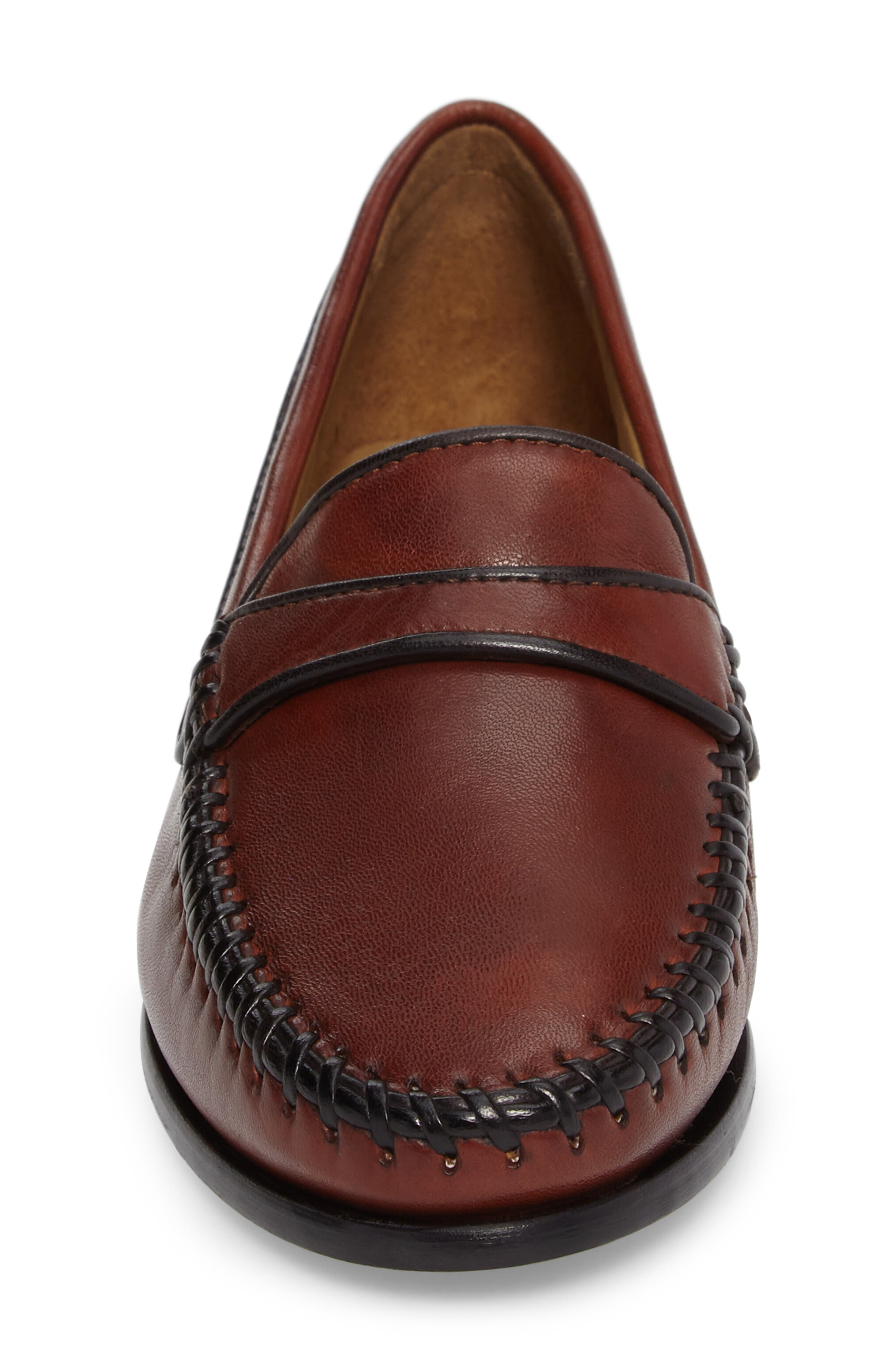 Aria Loafer,                             Alternate thumbnail 4, color,                             Vintage Luggage Leather