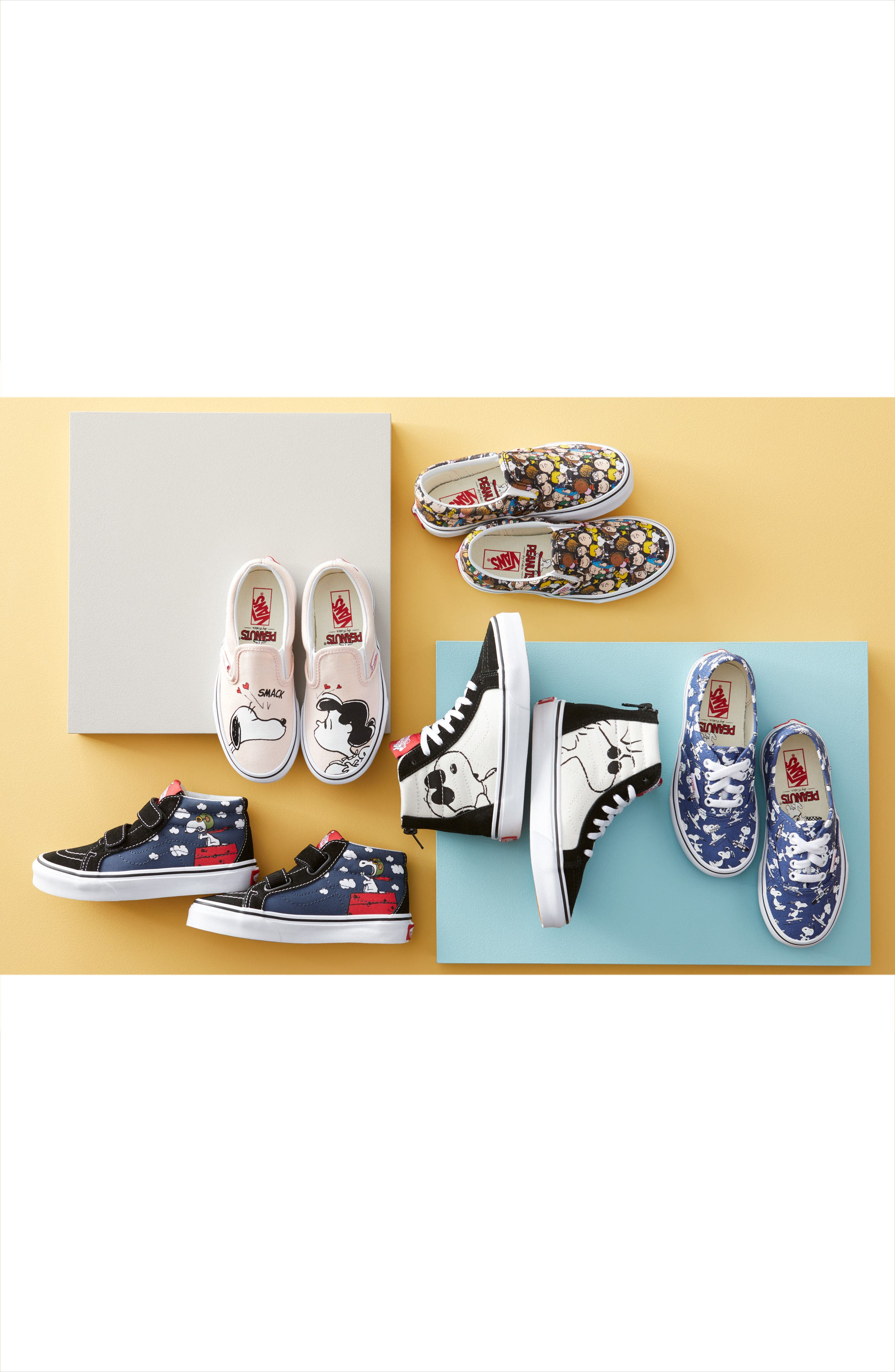 Alternate Image 7  - Vans x Peanuts SK8-Hi Sneaker (Toddler, Little Kid & Big Kid)
