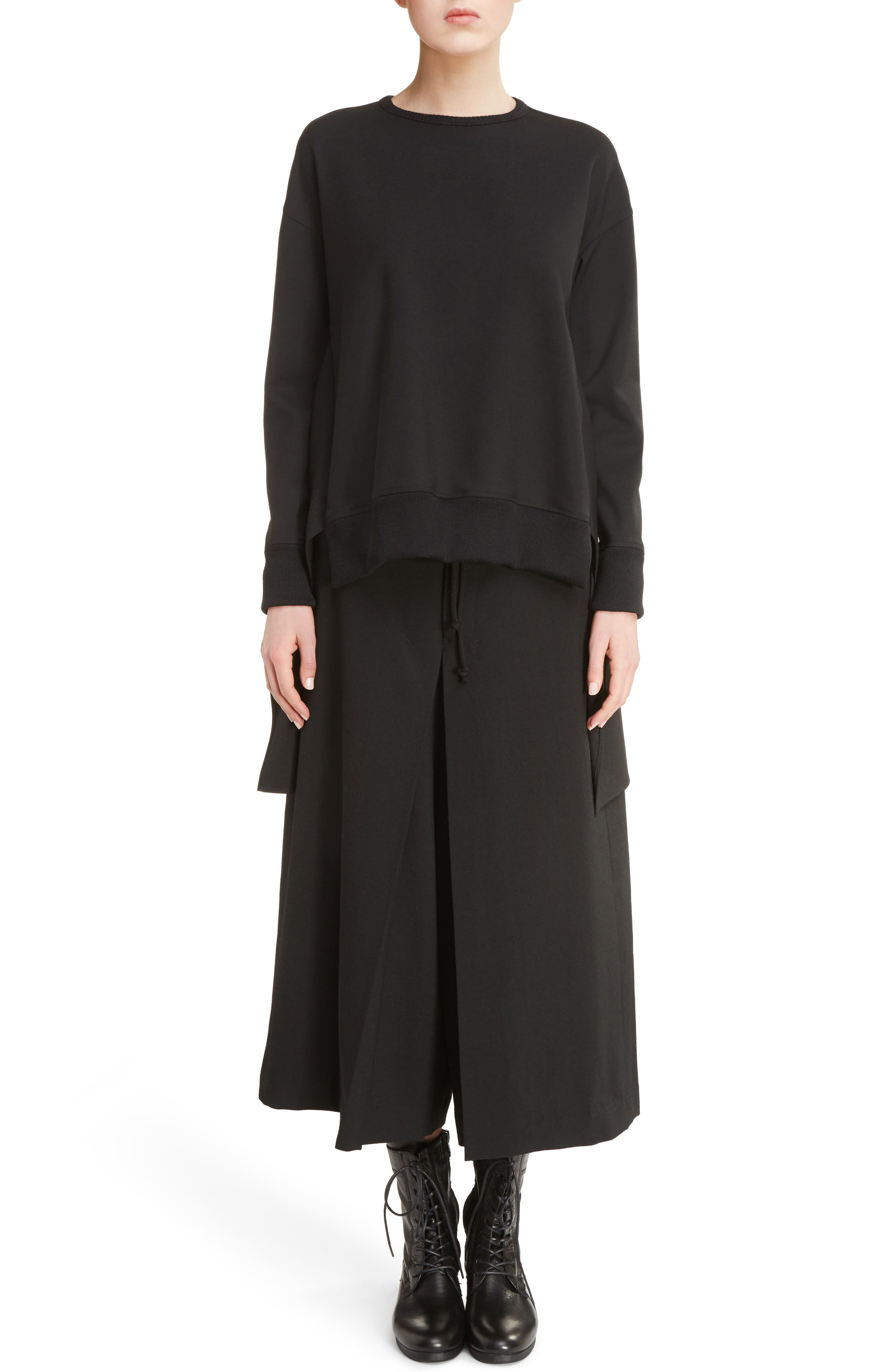 Alternate Image 7  - Y's by Yohji Yamamoto G-Gusset Tuck Front Wide Leg Pants