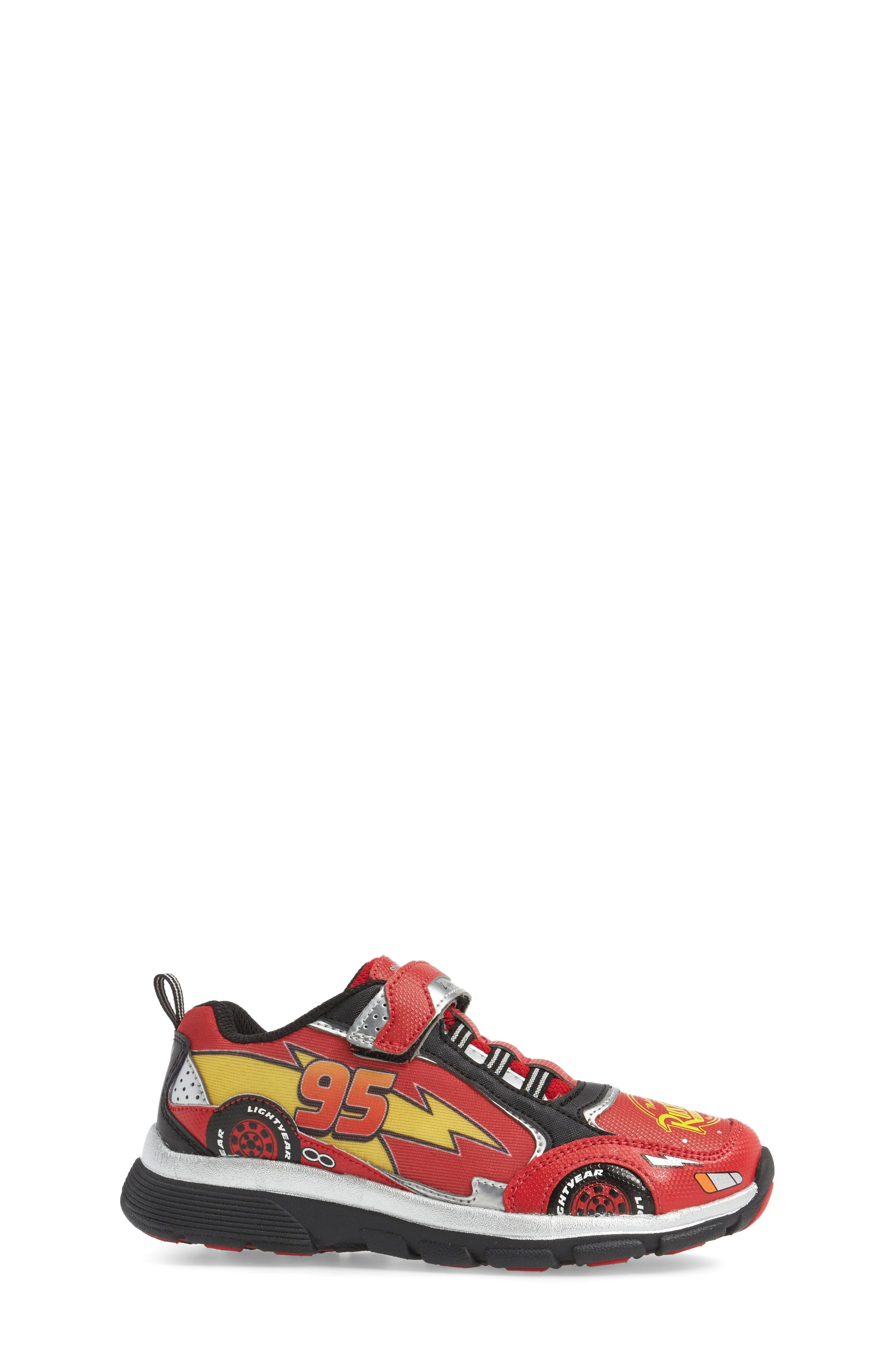 Disney Cars Sneaker,                             Alternate thumbnail 3, color,                             Red