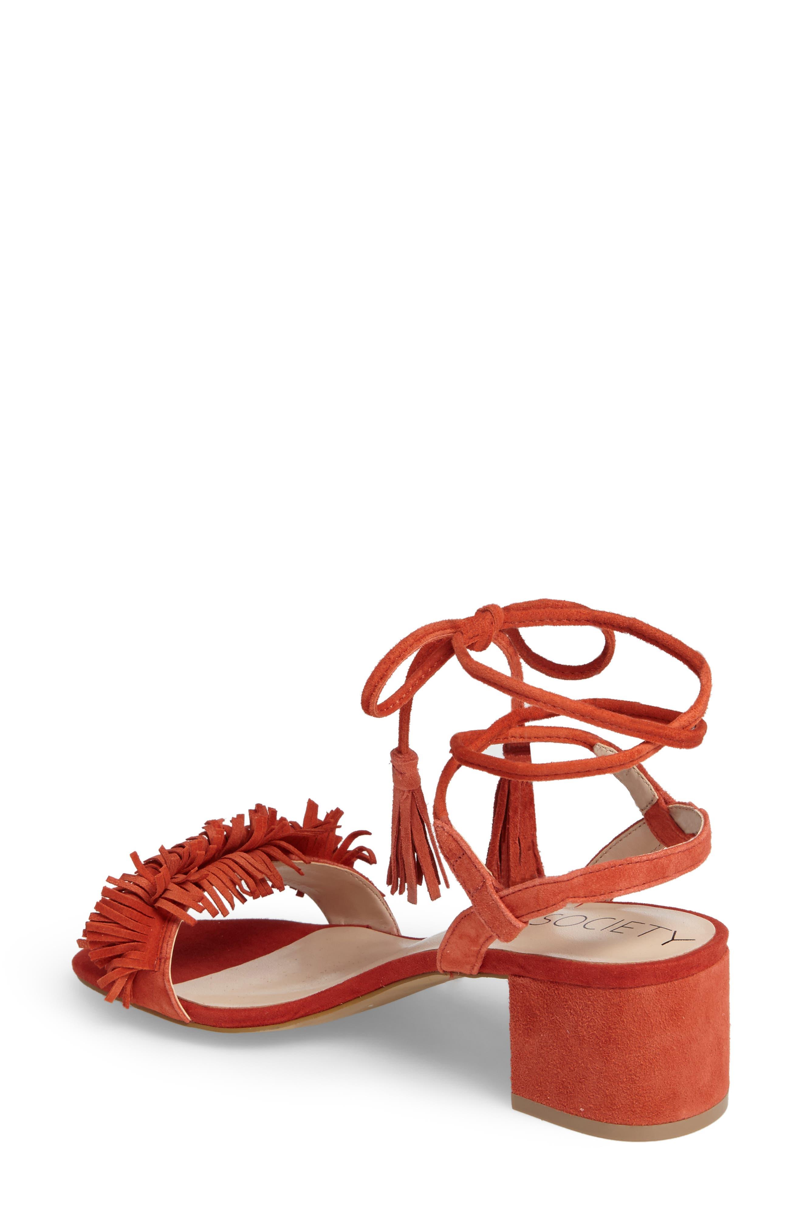 Alternate Image 2  - Sole Society Sera Wraparound Fringe Sandal (Women)