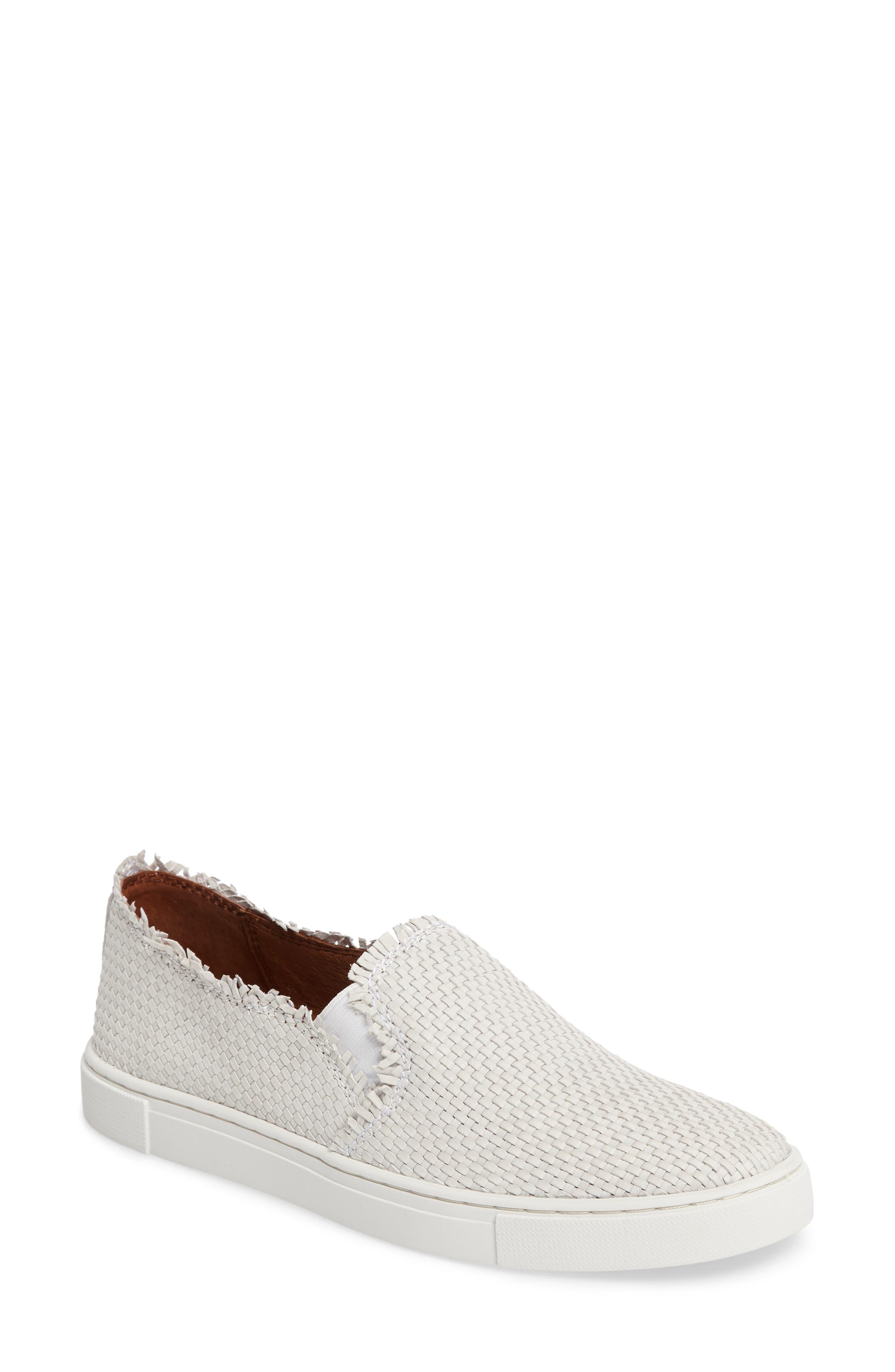 Alternate Image 1 Selected - Frye Ivy Fray Woven Slip-On Sneaker (Women)