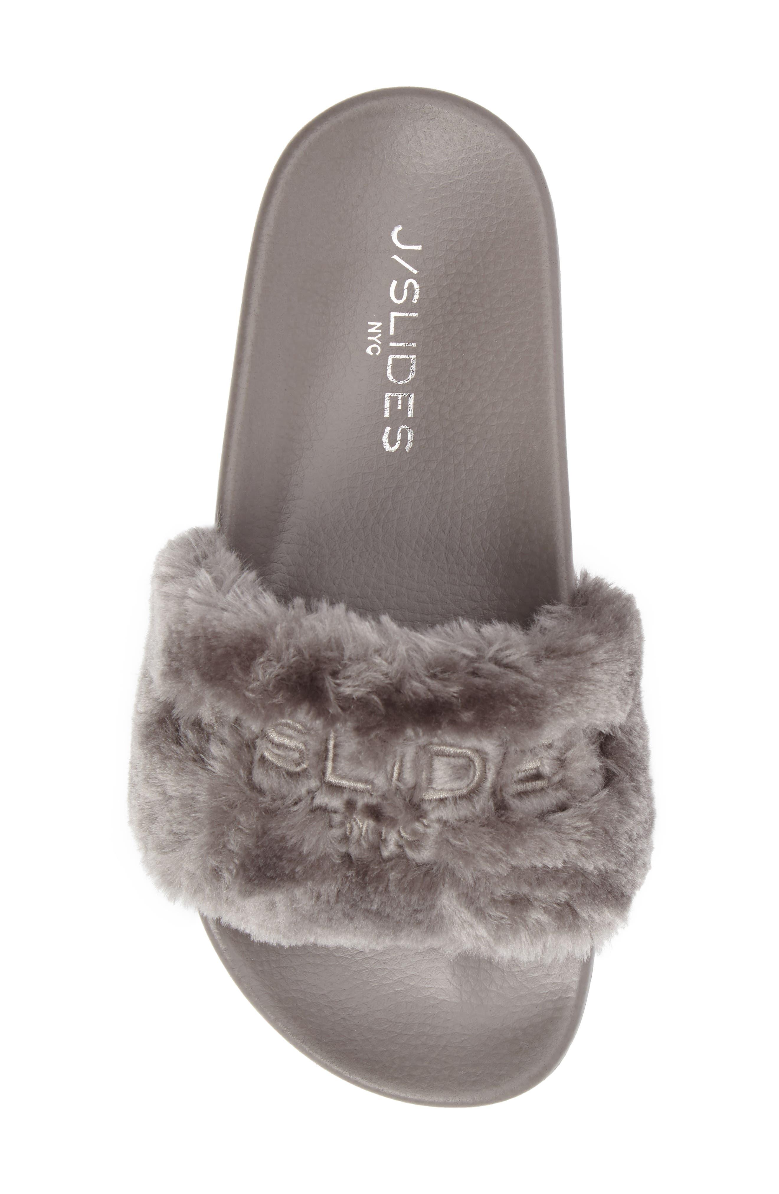 Alternate Image 5  - JSlides Samantha Faux Fur Slide (Women)