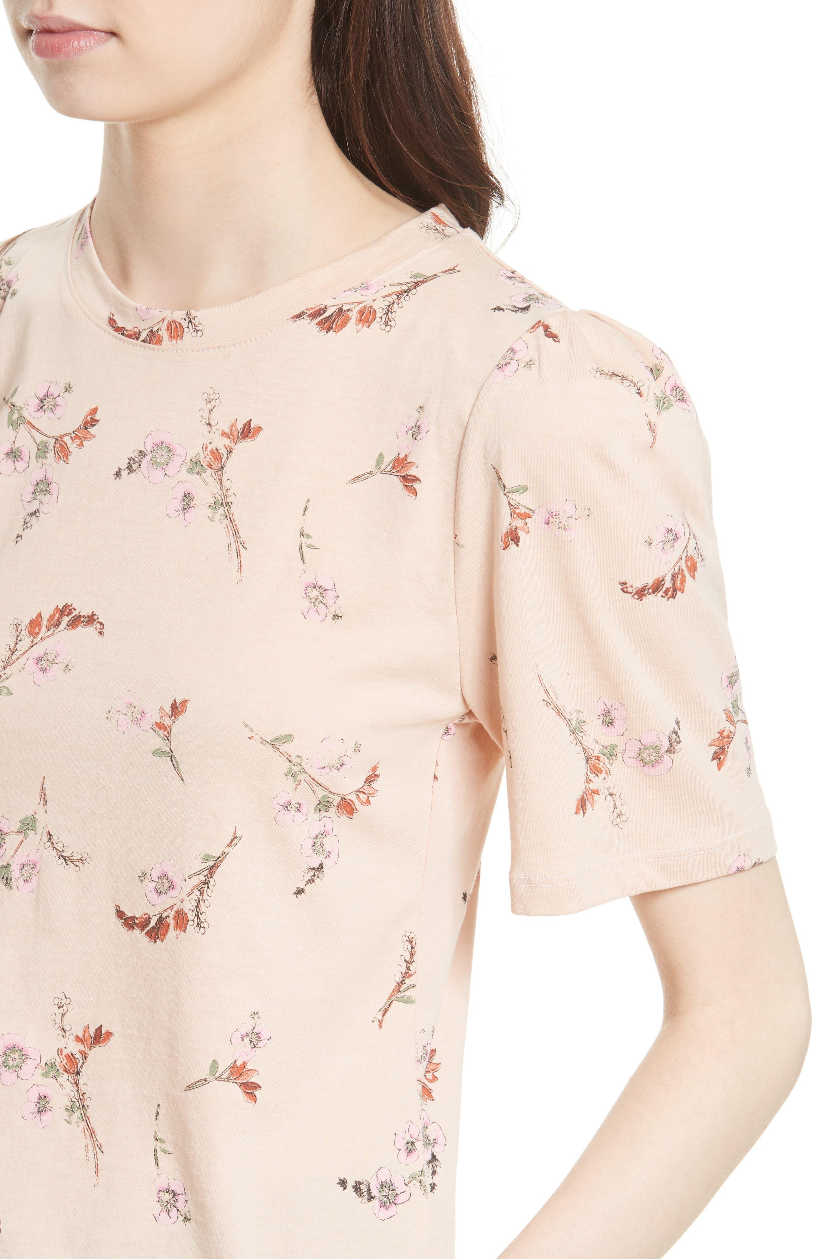 Natalie Fleur Cotton Jersey Top,                             Alternate thumbnail 4, color,                             Ballet Combo