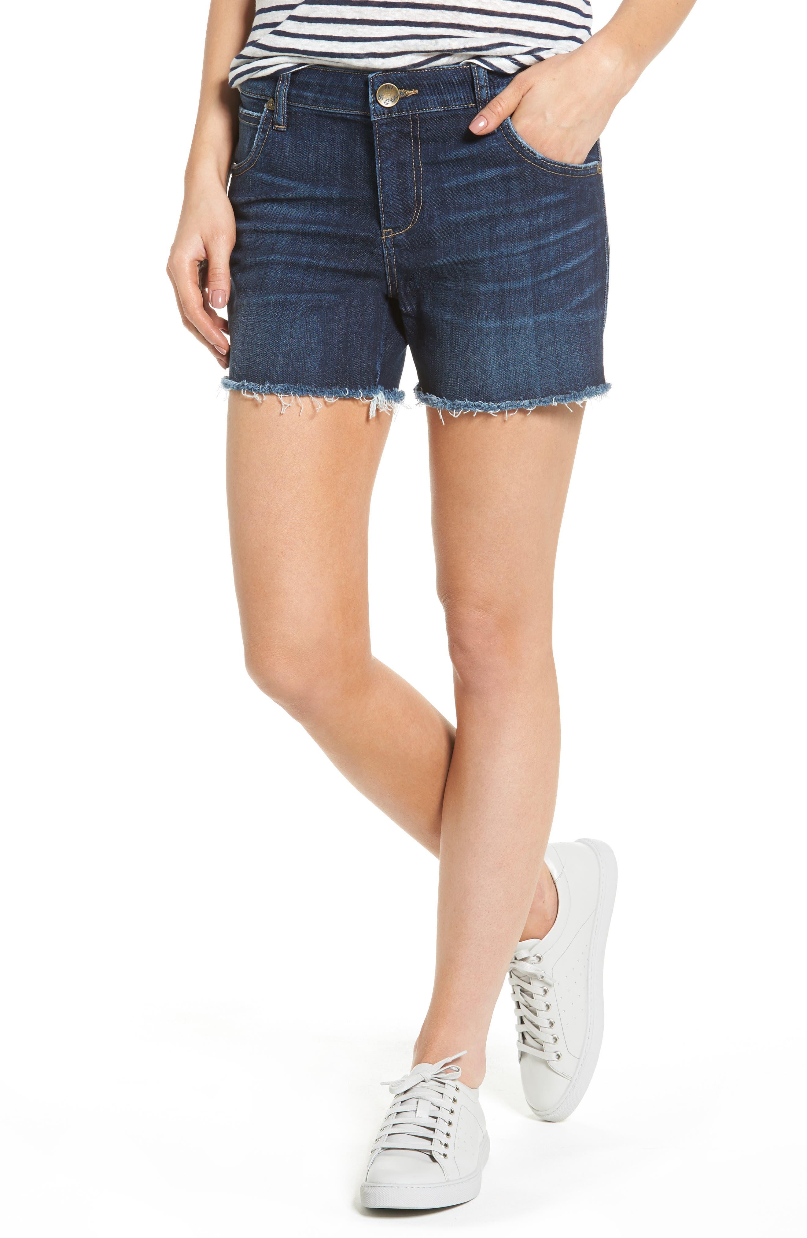 KUT from the Kloth Gidget Denim Cutoff Shorts