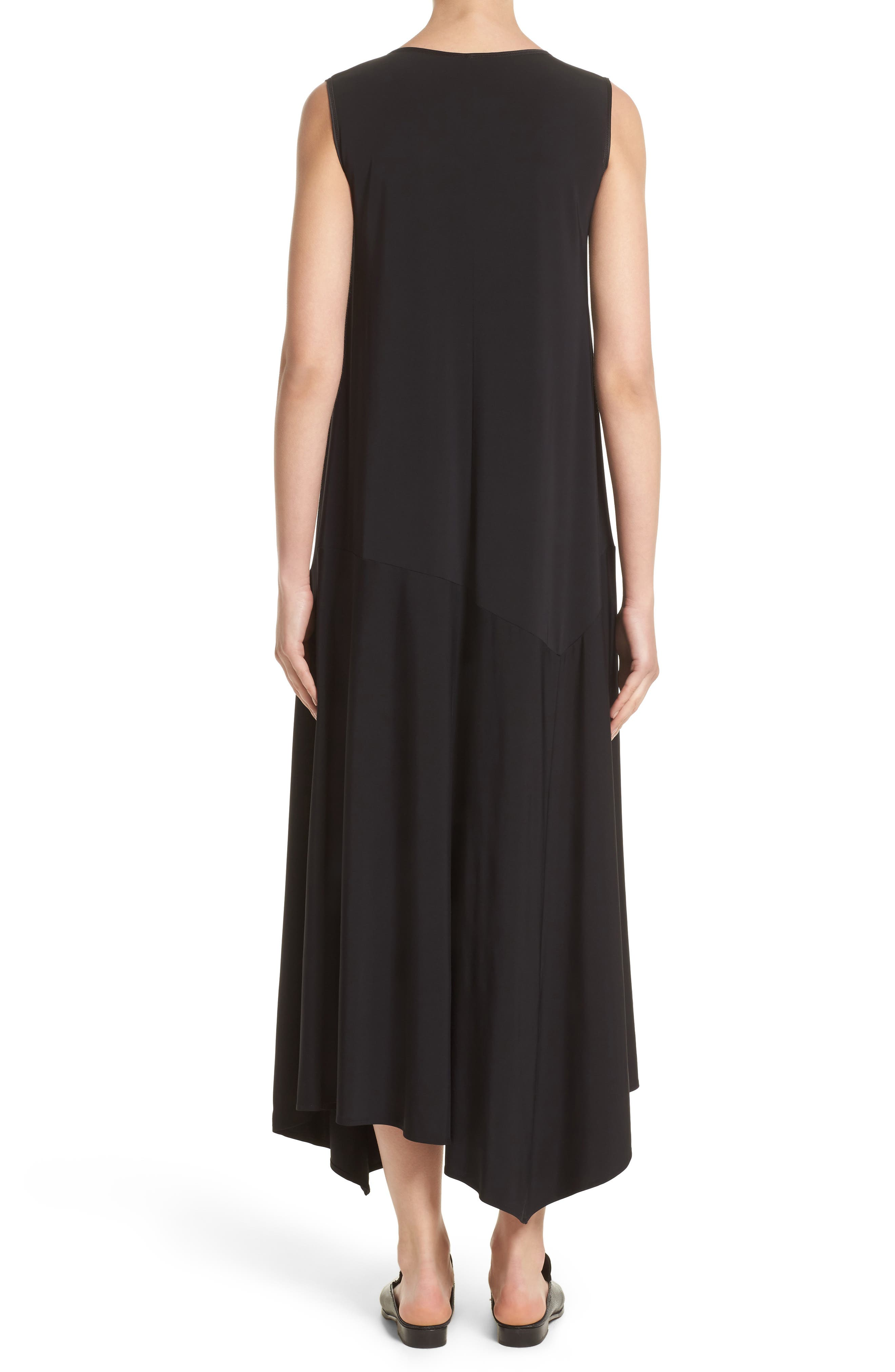 Alternate Image 2  - Lafayette 148 New York Cultivated Crepe Jersey Asymmetrical Dress