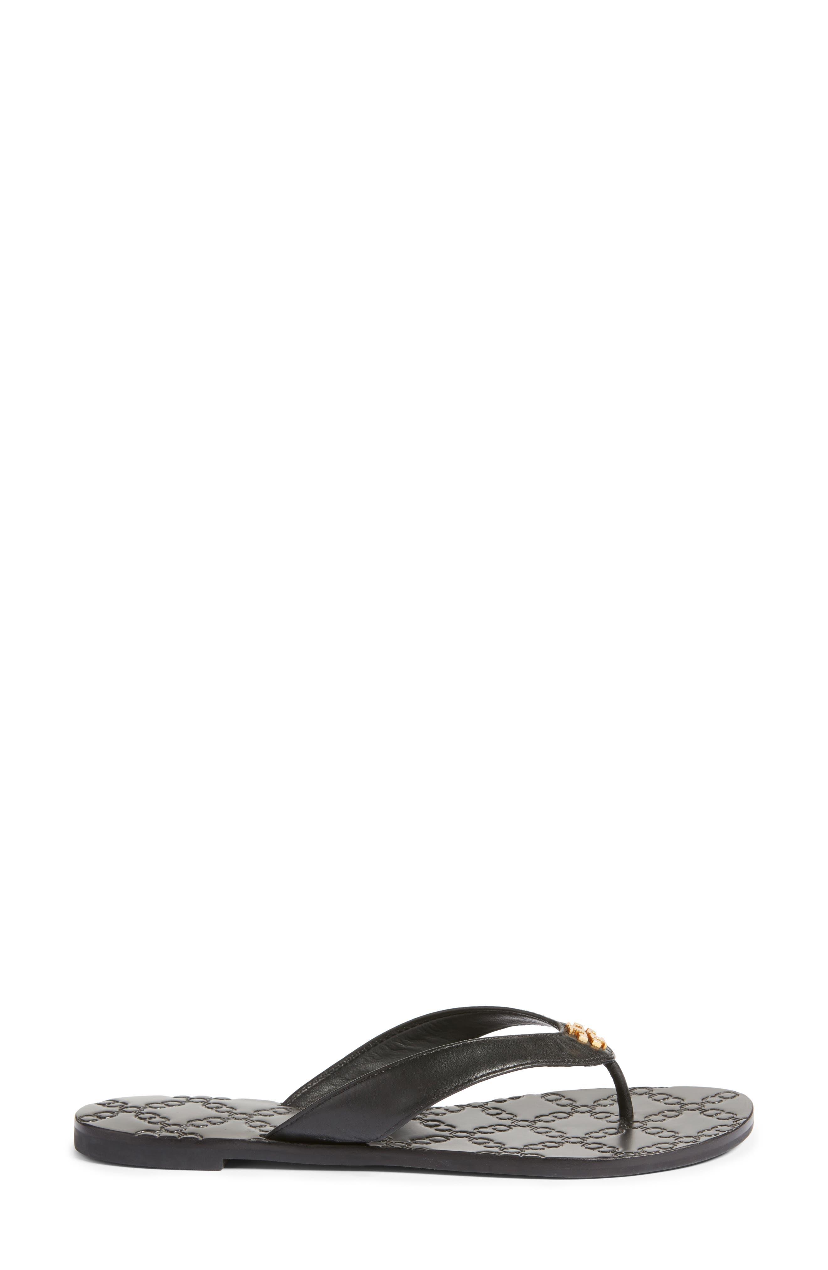 Monroe Flip Flop,                             Alternate thumbnail 3, color,                             Black