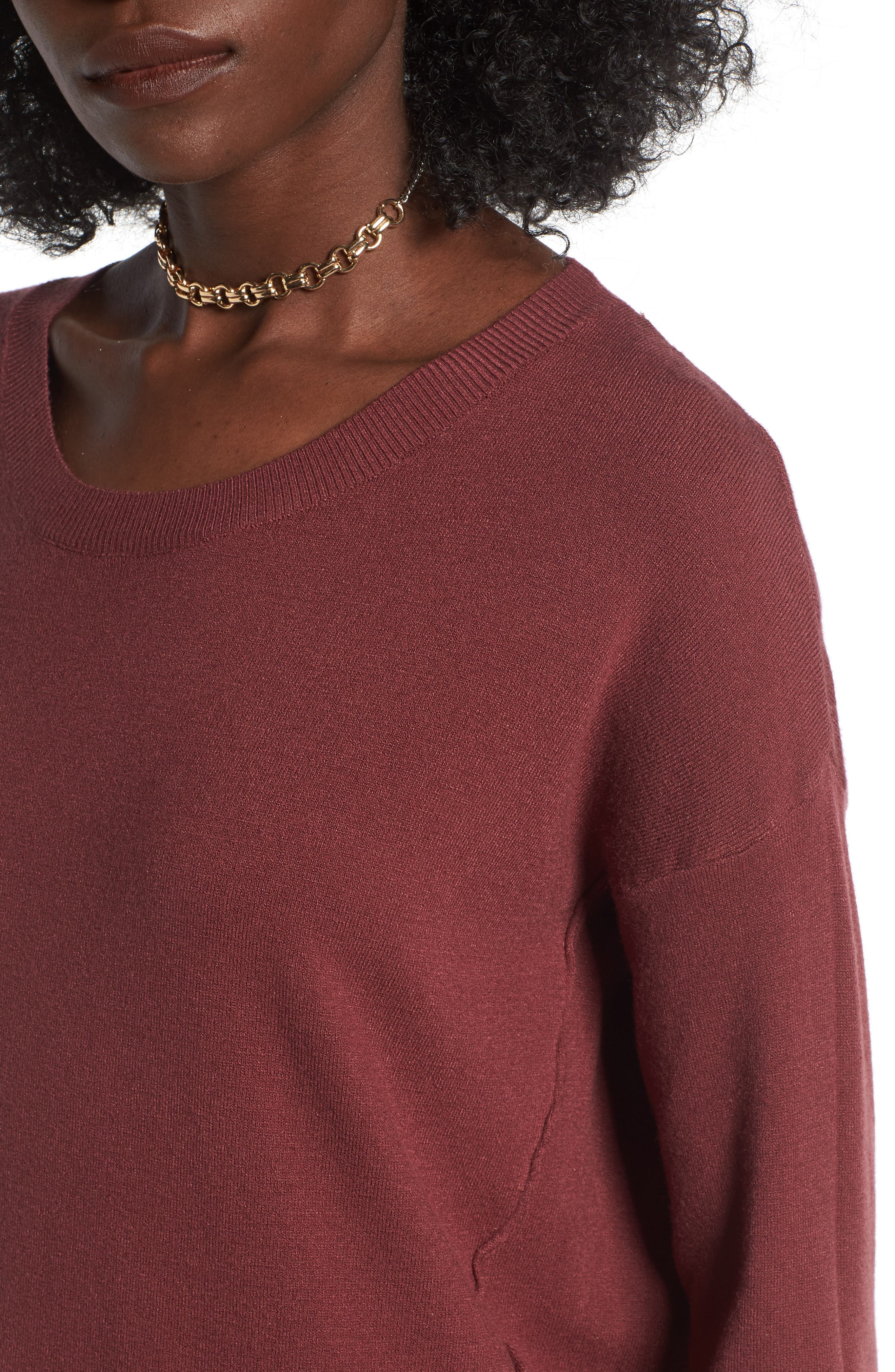 Alternate Image 4  - Dreamers by Debut Forward Seam Tunic Sweater