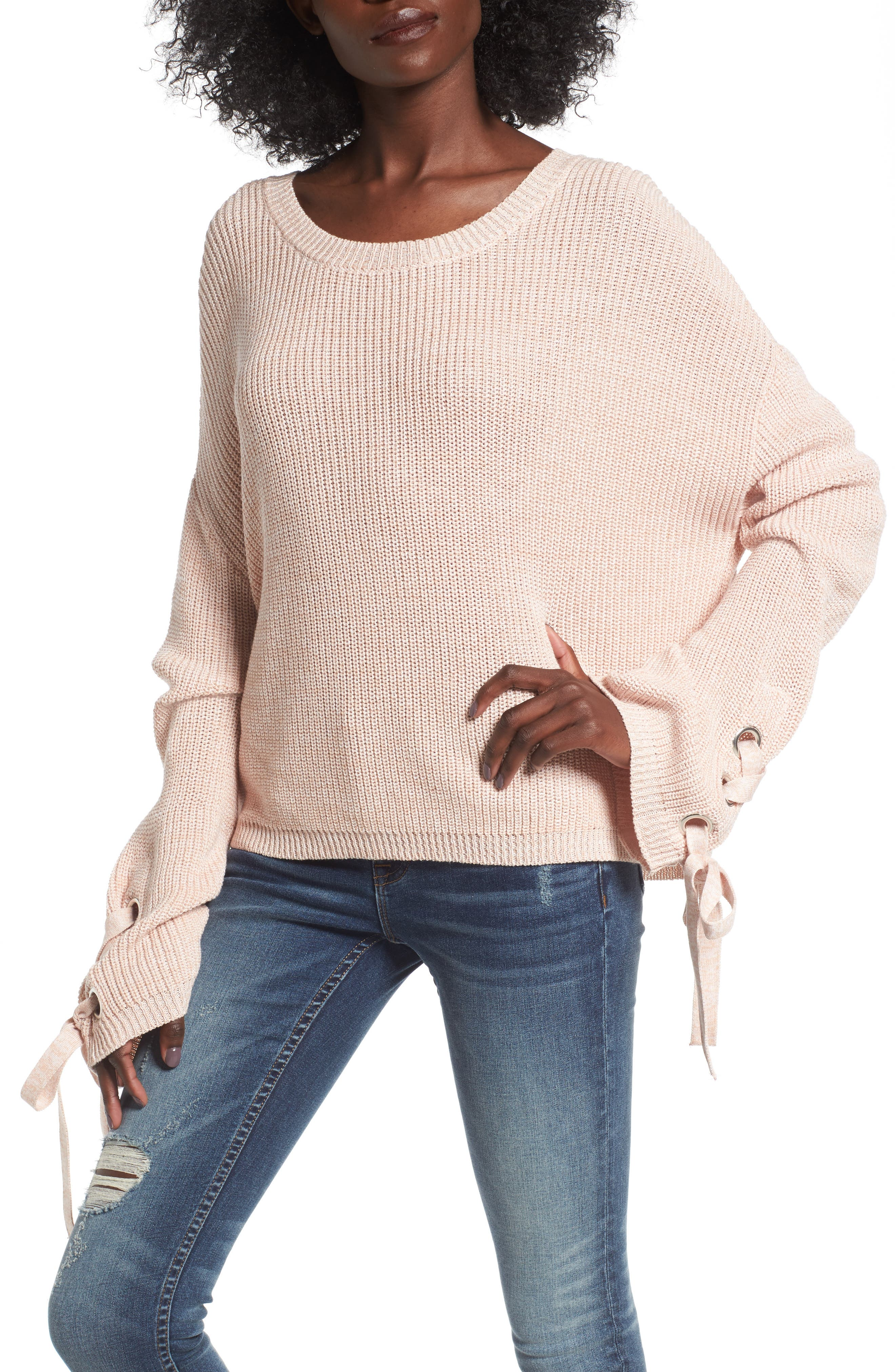 Love By Design Grommet Sleeve Pullover