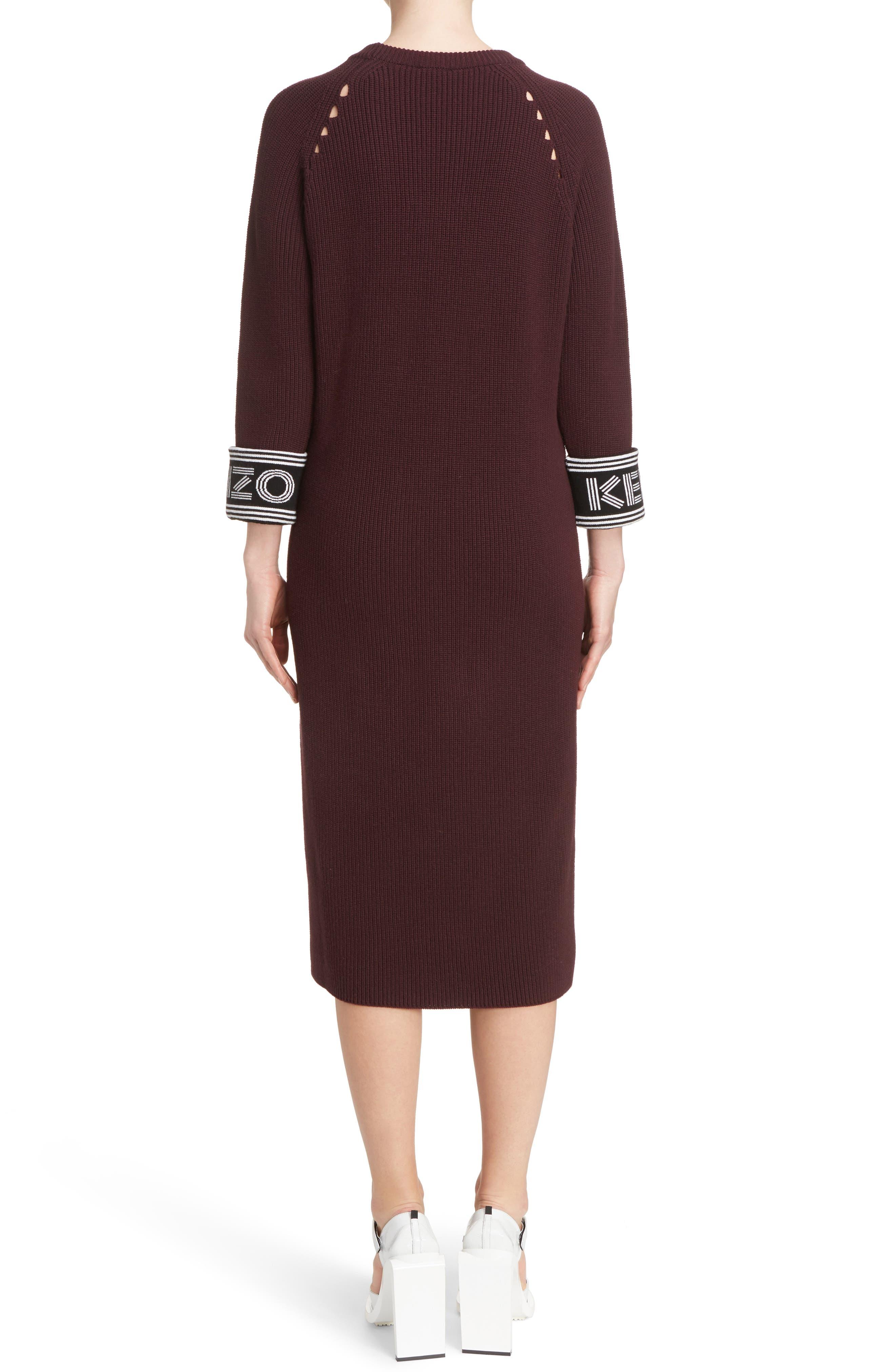 Alternate Image 2  - KENZO Sport Knit Midi Dress
