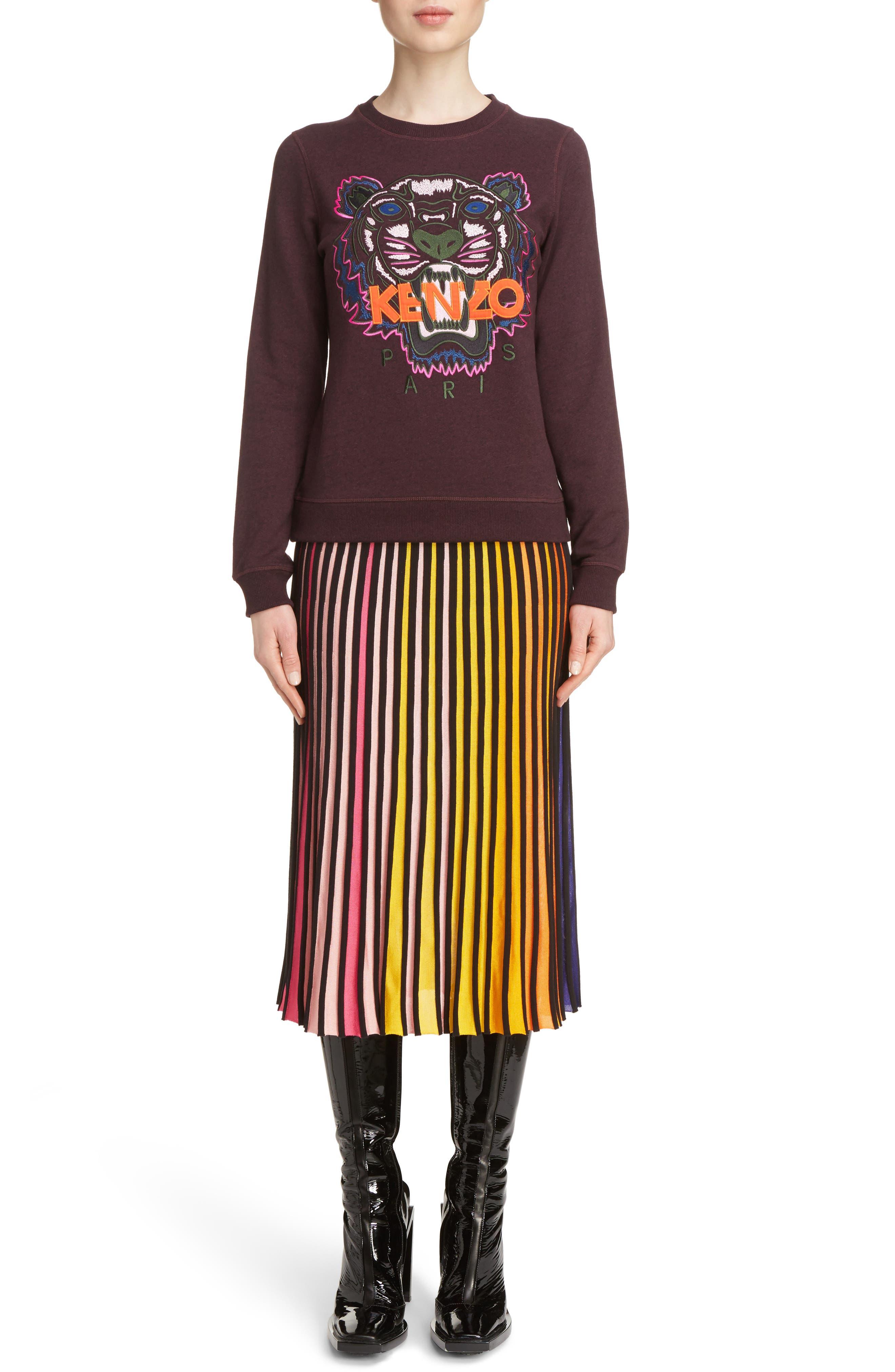 Rib Knit Flare Skirt,                             Alternate thumbnail 2, color,                             Multicolor