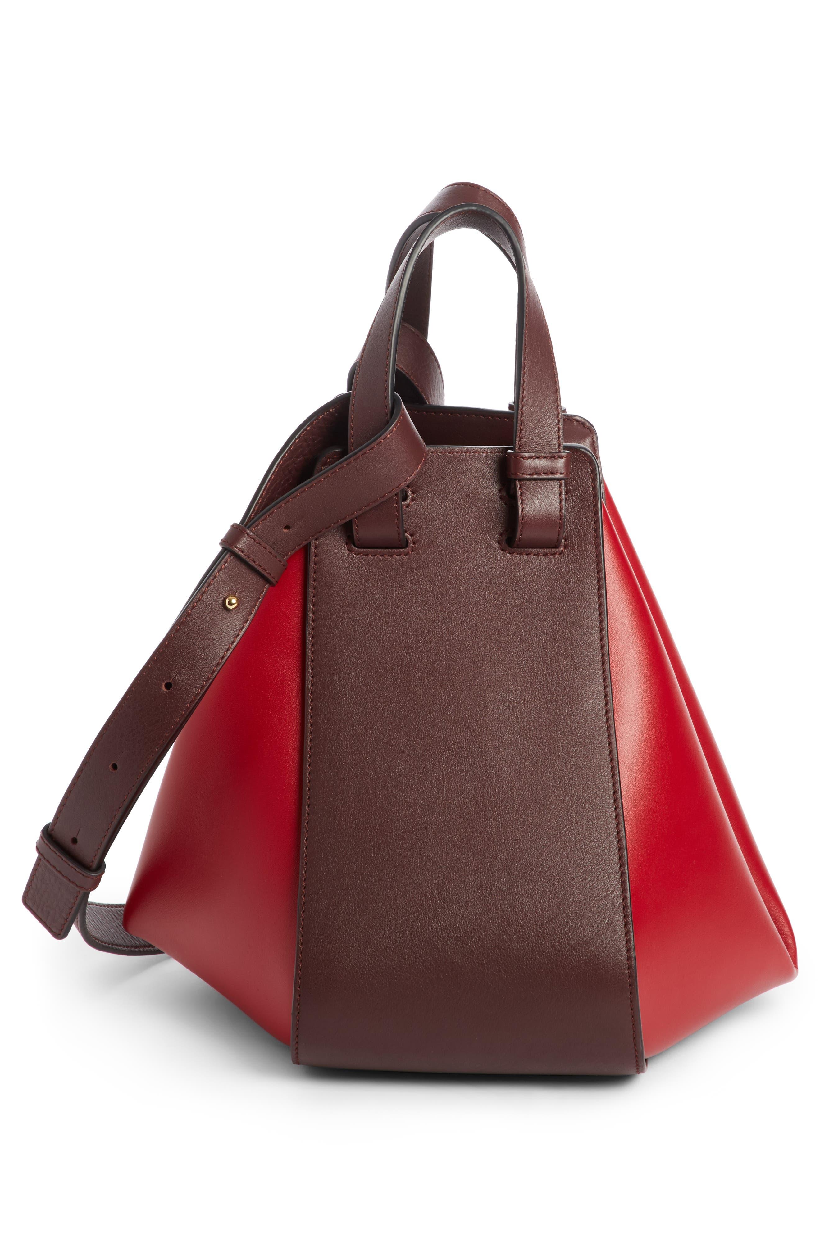 Small Hammock Leather Shoulder Bag,                         Main,                         color, Oxblood/ Rouge