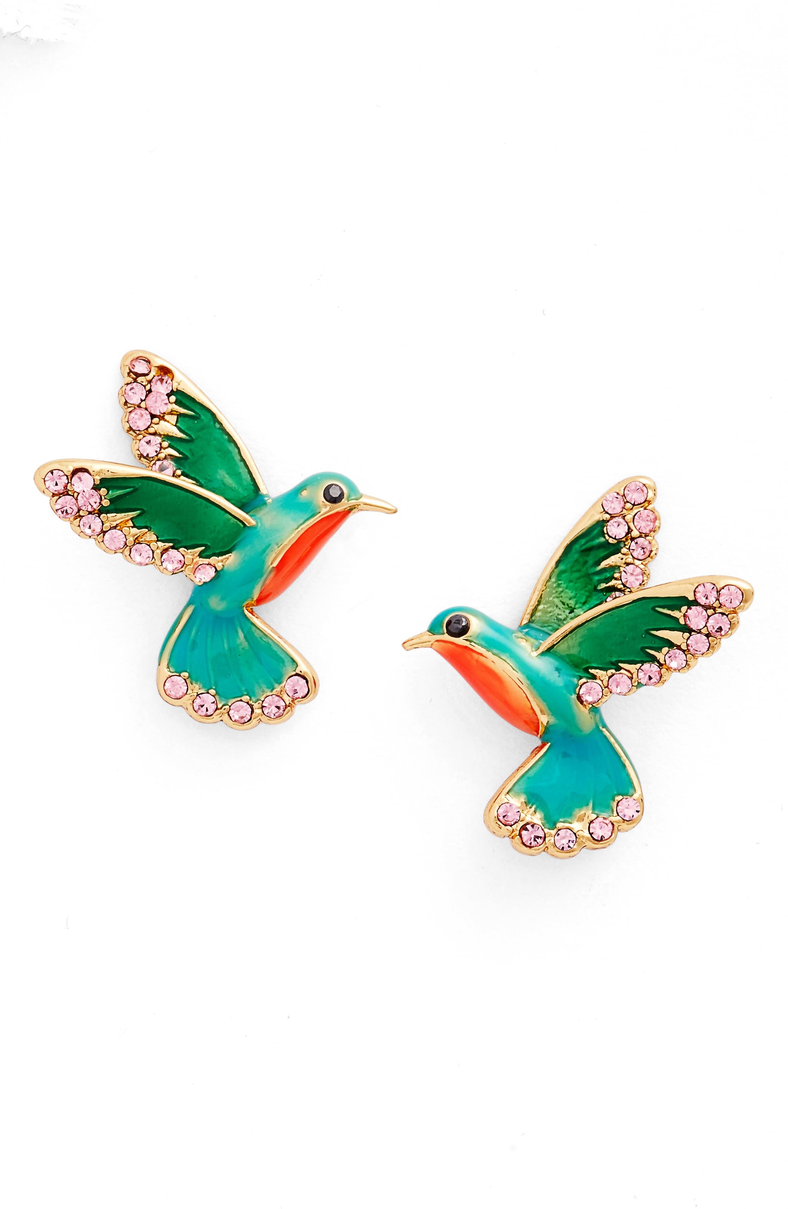 Alternate Image 1 Selected - kate spade new york hummingbird stud earrings