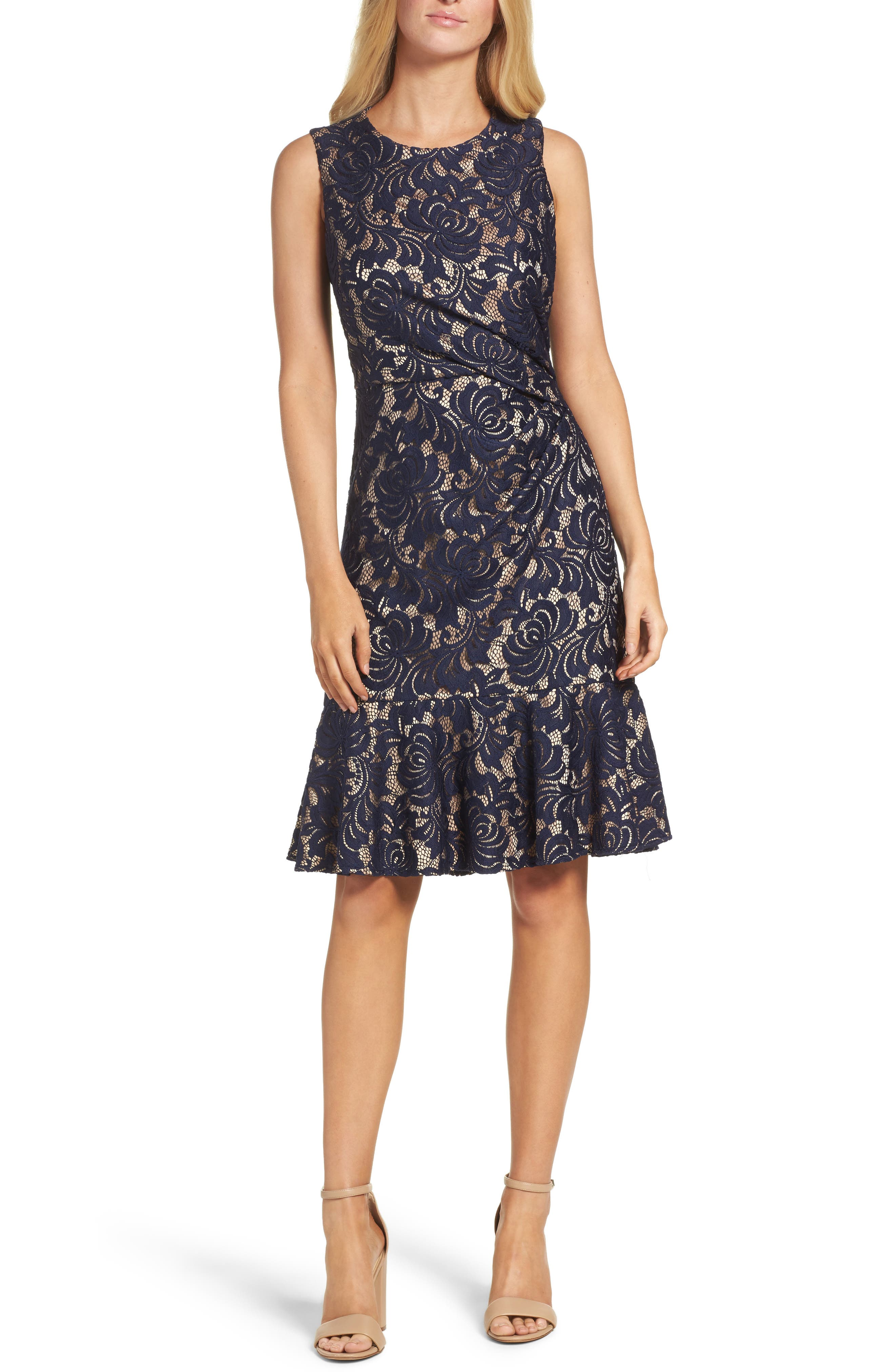 Main Image - Eliza J Lace Midi Dress