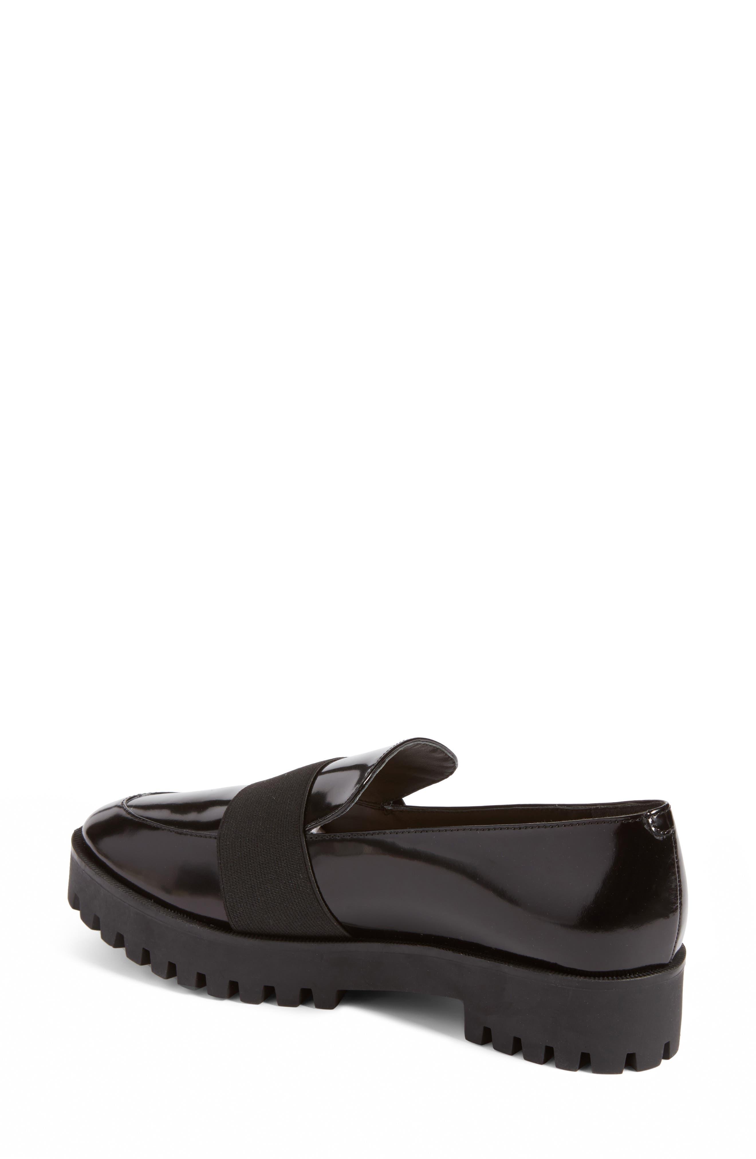 Gallo Platform Loafer,                             Alternate thumbnail 3, color,                             Black Leather