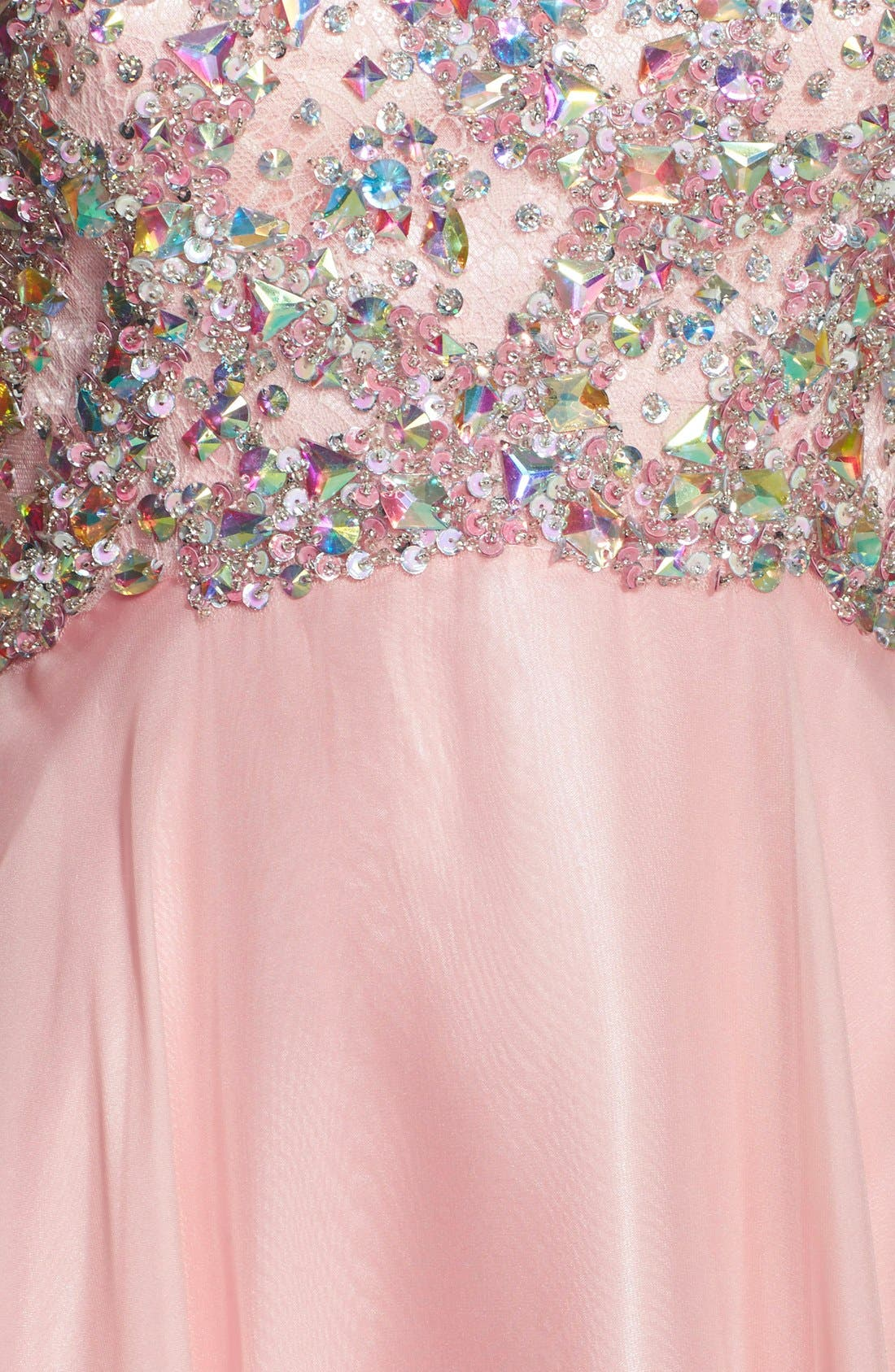 Alternate Image 3  - Alyce Paris Embellished Strapless Chiffon Gown