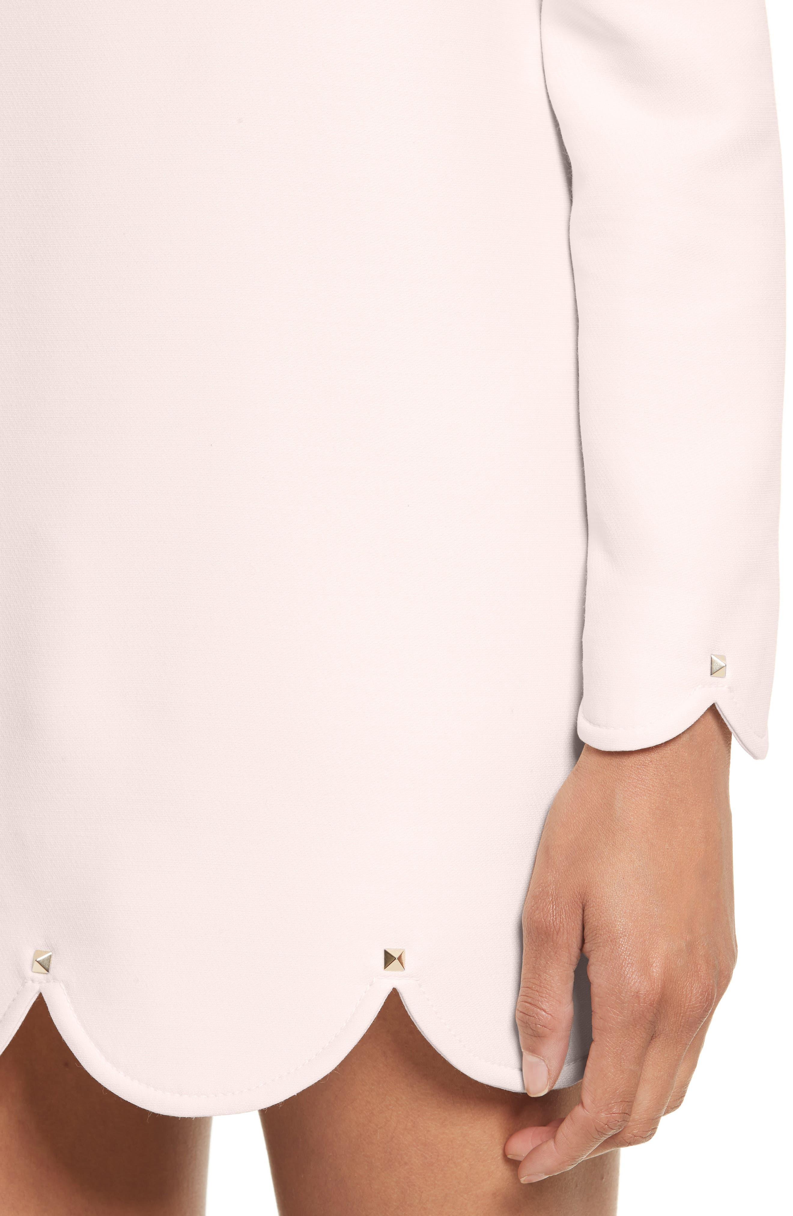 Alternate Image 5  - Valentino Scallop Hem Wool & Silk Shift Dress