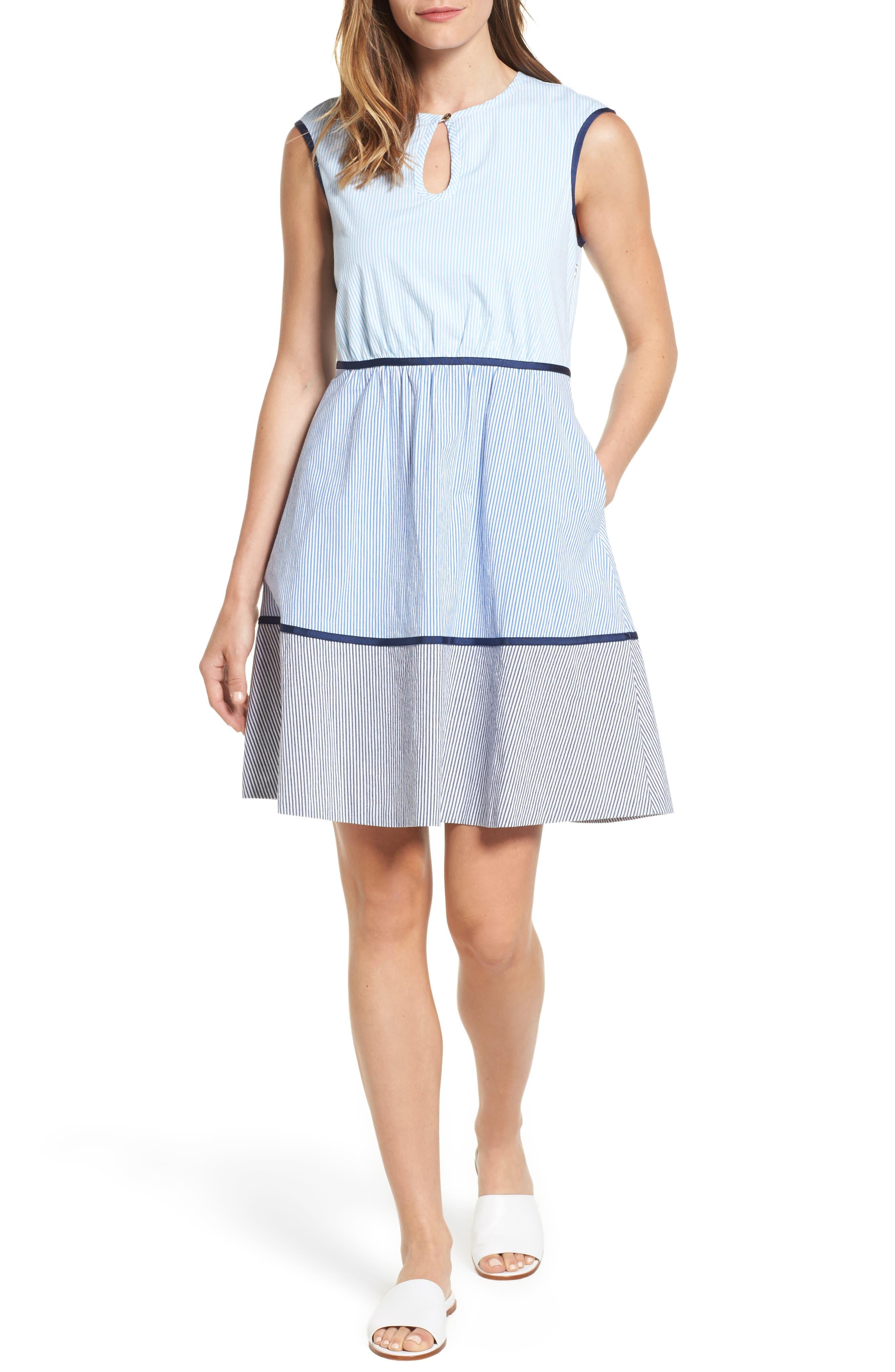 DRAPER JAMES Sarabeth Seersucker Dress