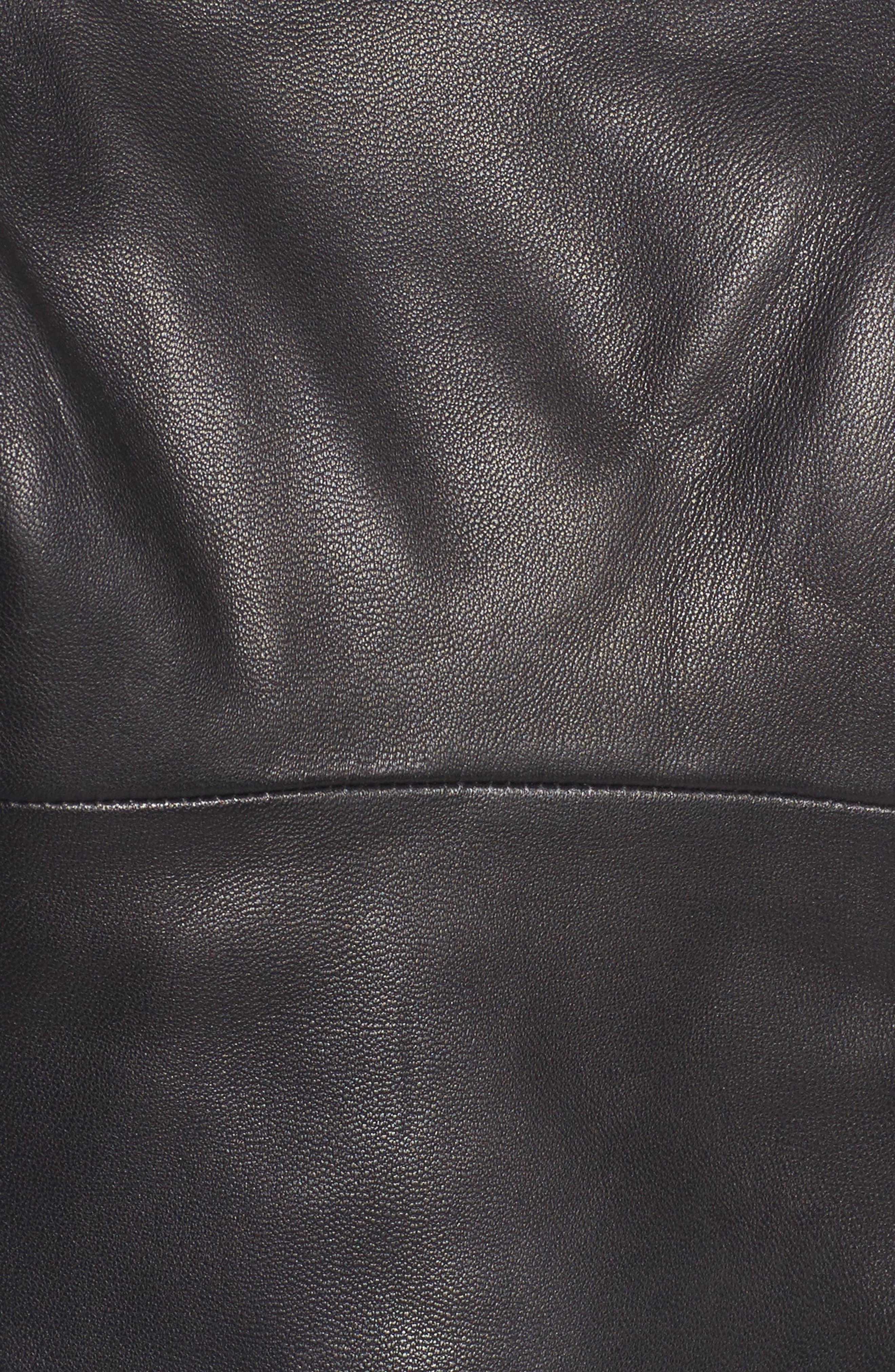 Leather Bustier,                             Alternate thumbnail 6, color,                             Black