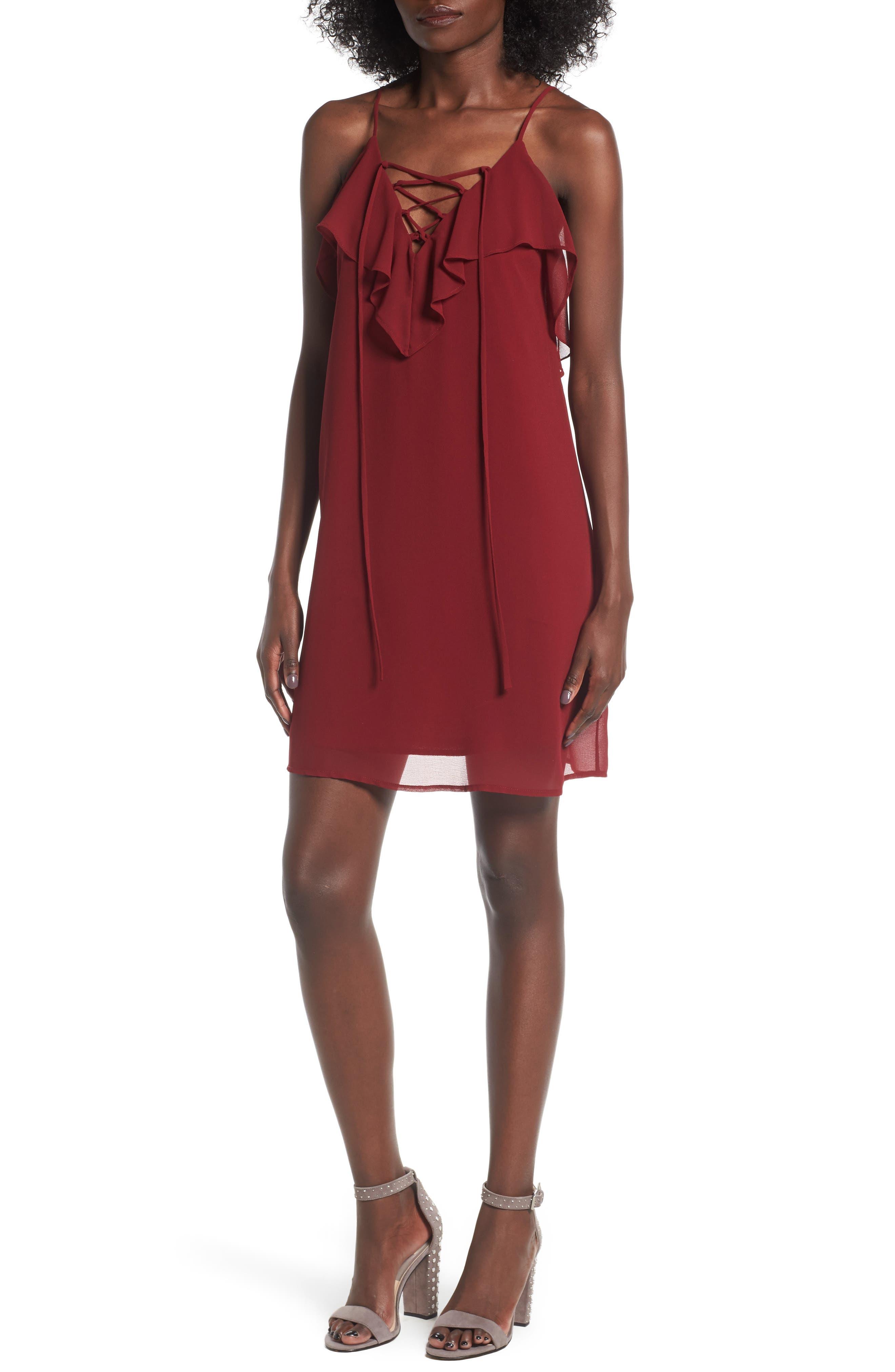 Soprano Lace-Up Camisole Dress
