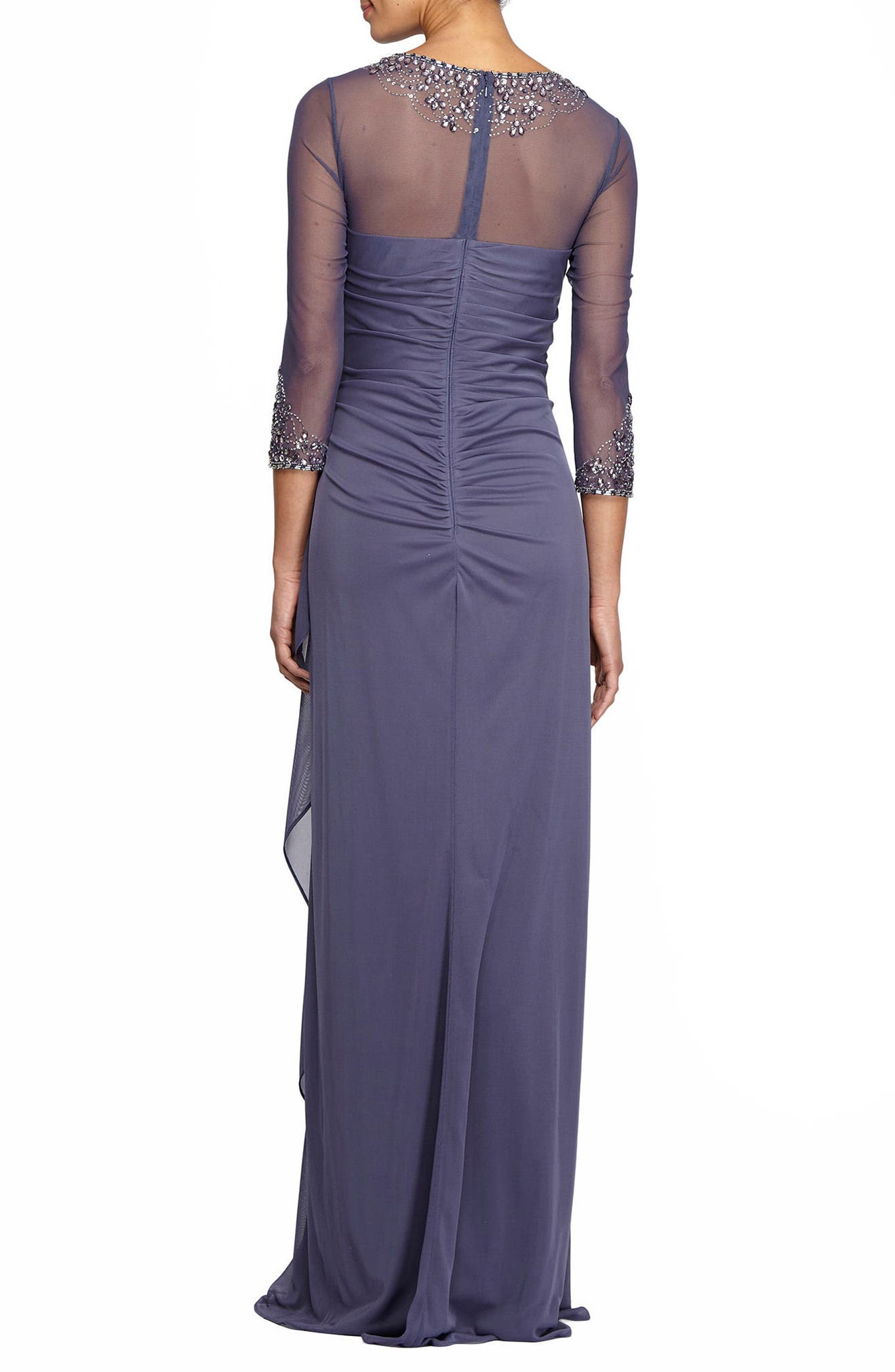 Alternate Image 2  - Alex Evenings Embellished A-Line Gown (Regular & Petite)
