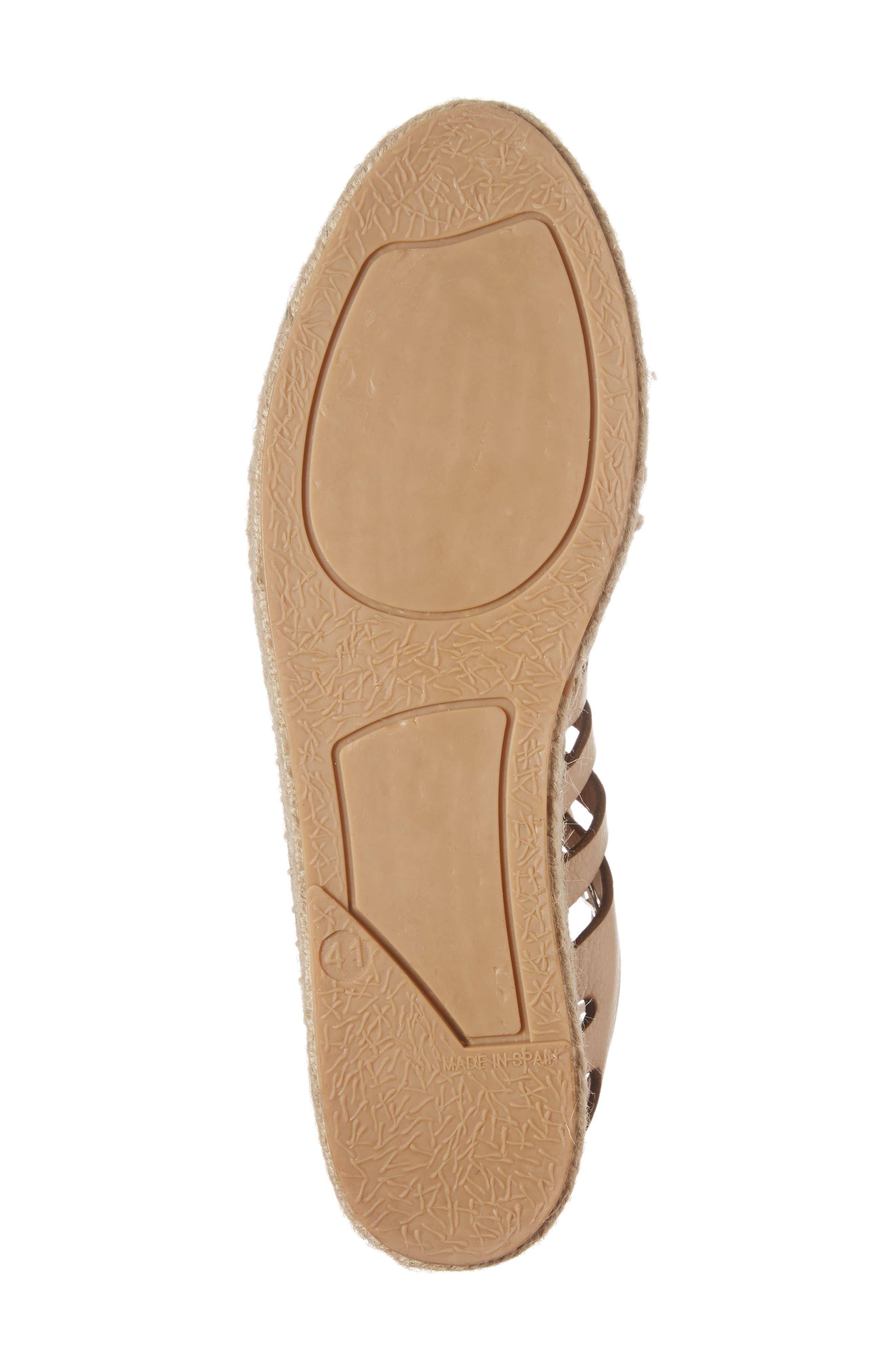 Krown Wraparound Platform Sandal,                             Alternate thumbnail 6, color,                             Nude Leather
