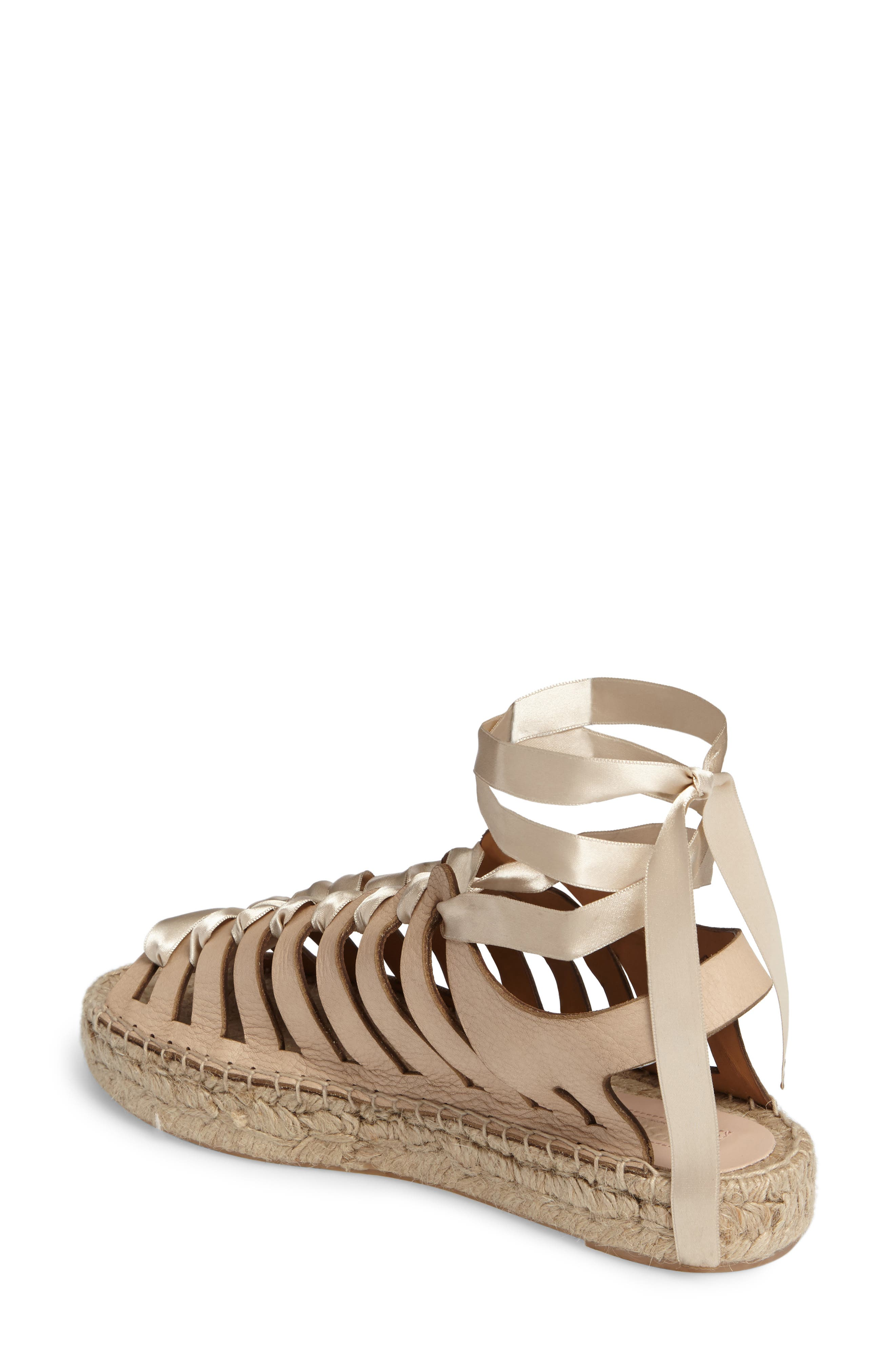 Krown Wraparound Platform Sandal,                             Alternate thumbnail 2, color,                             Nude Leather