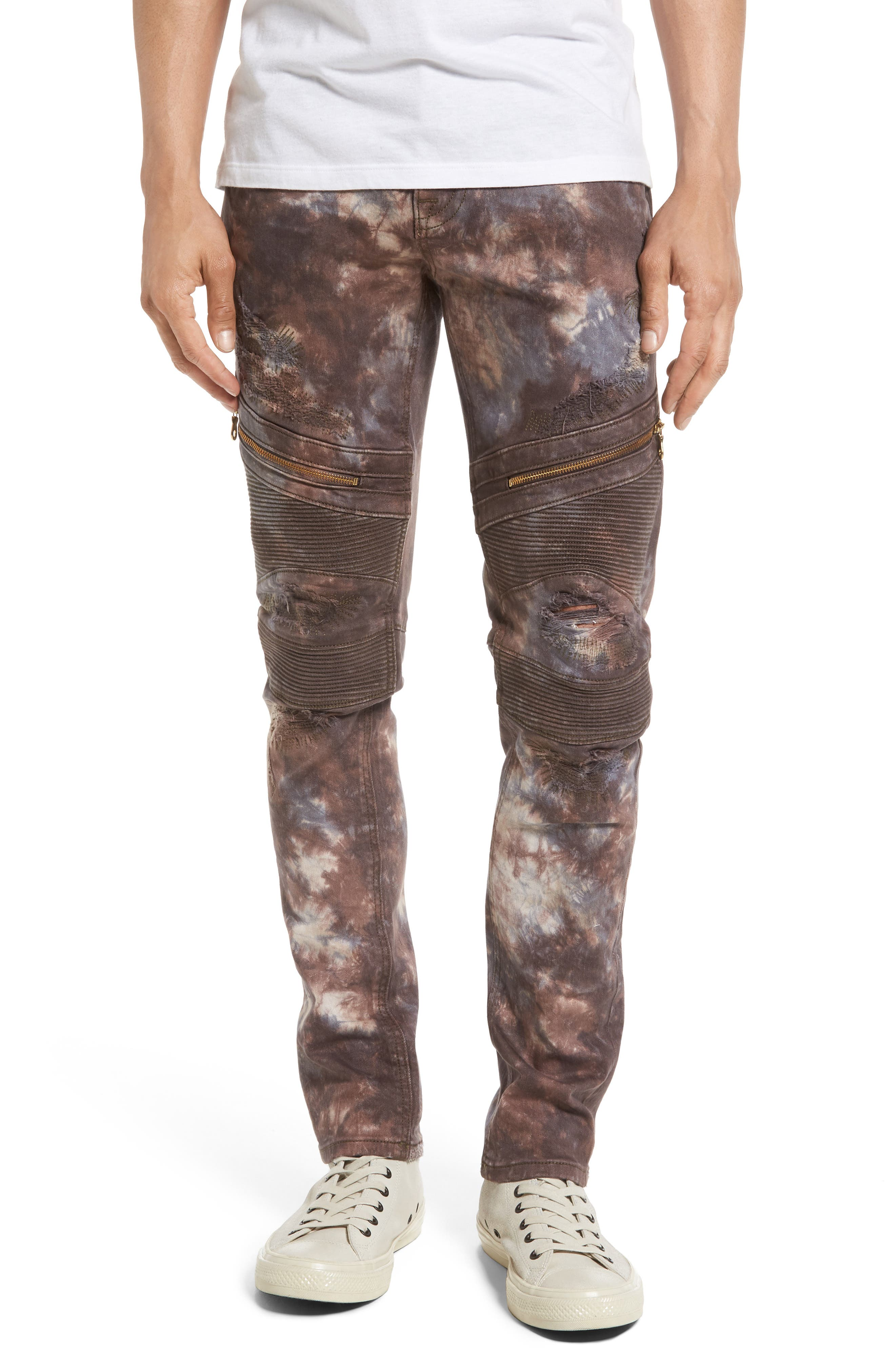 Rock Revival Skinny Fit Moto Jeans