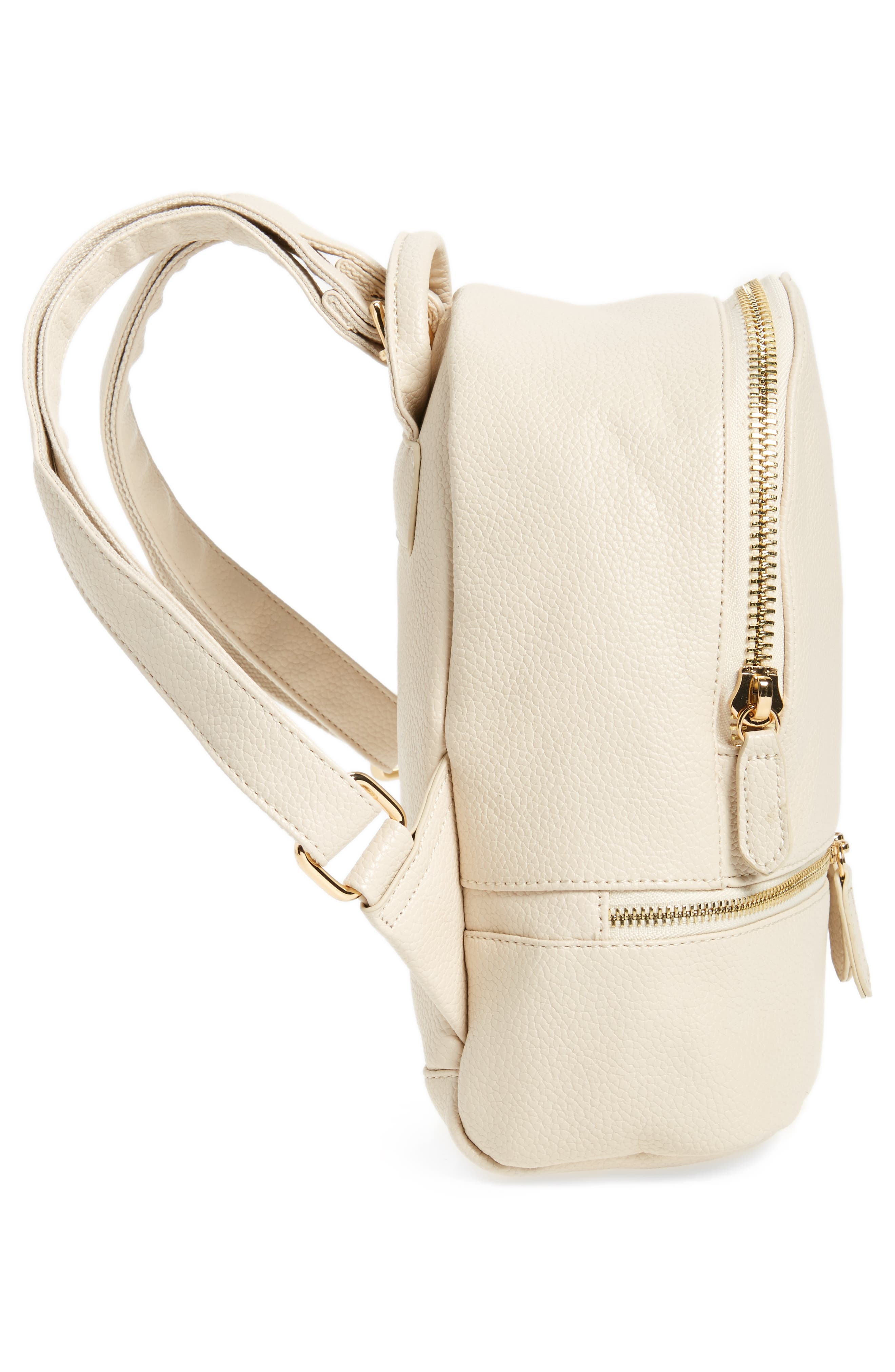 Alternate Image 5  - Girly Faux Leather Mini Zip Backpack