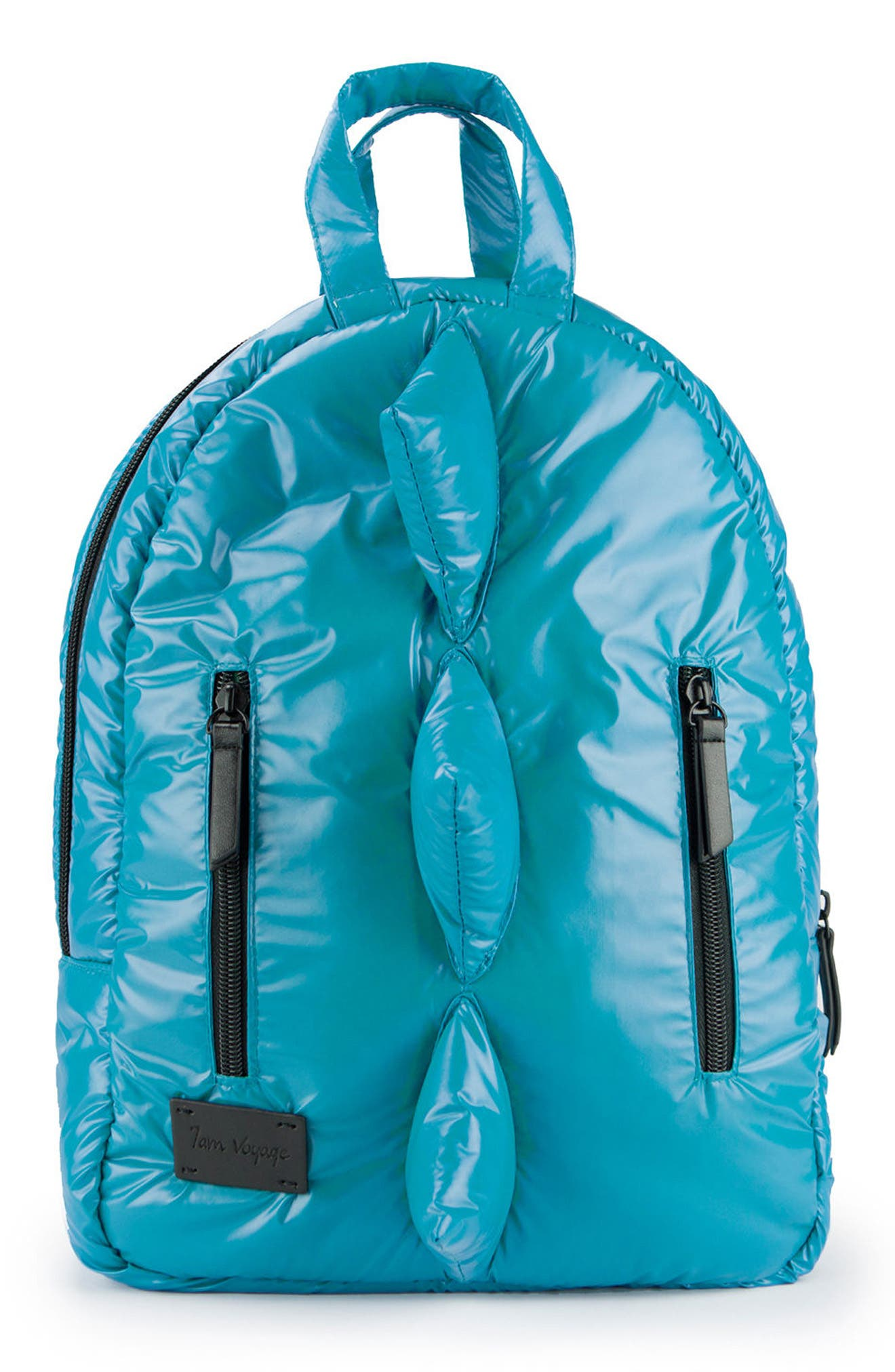 Dino Water Repellent Mini Backpack,                         Main,                         color, Teal