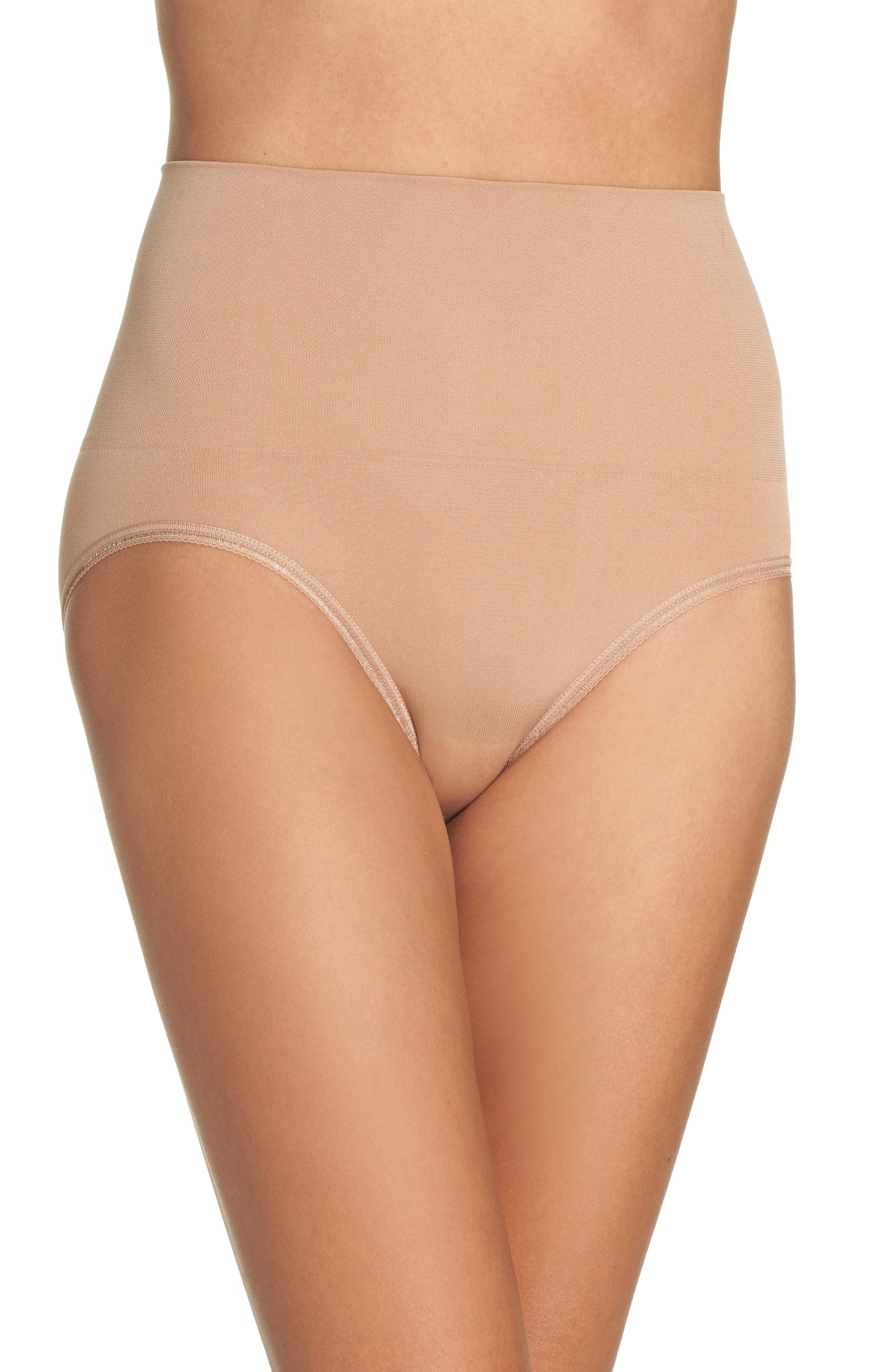 Ultralight Seamless Shaping Briefs,                             Main thumbnail 1, color,                             Almond