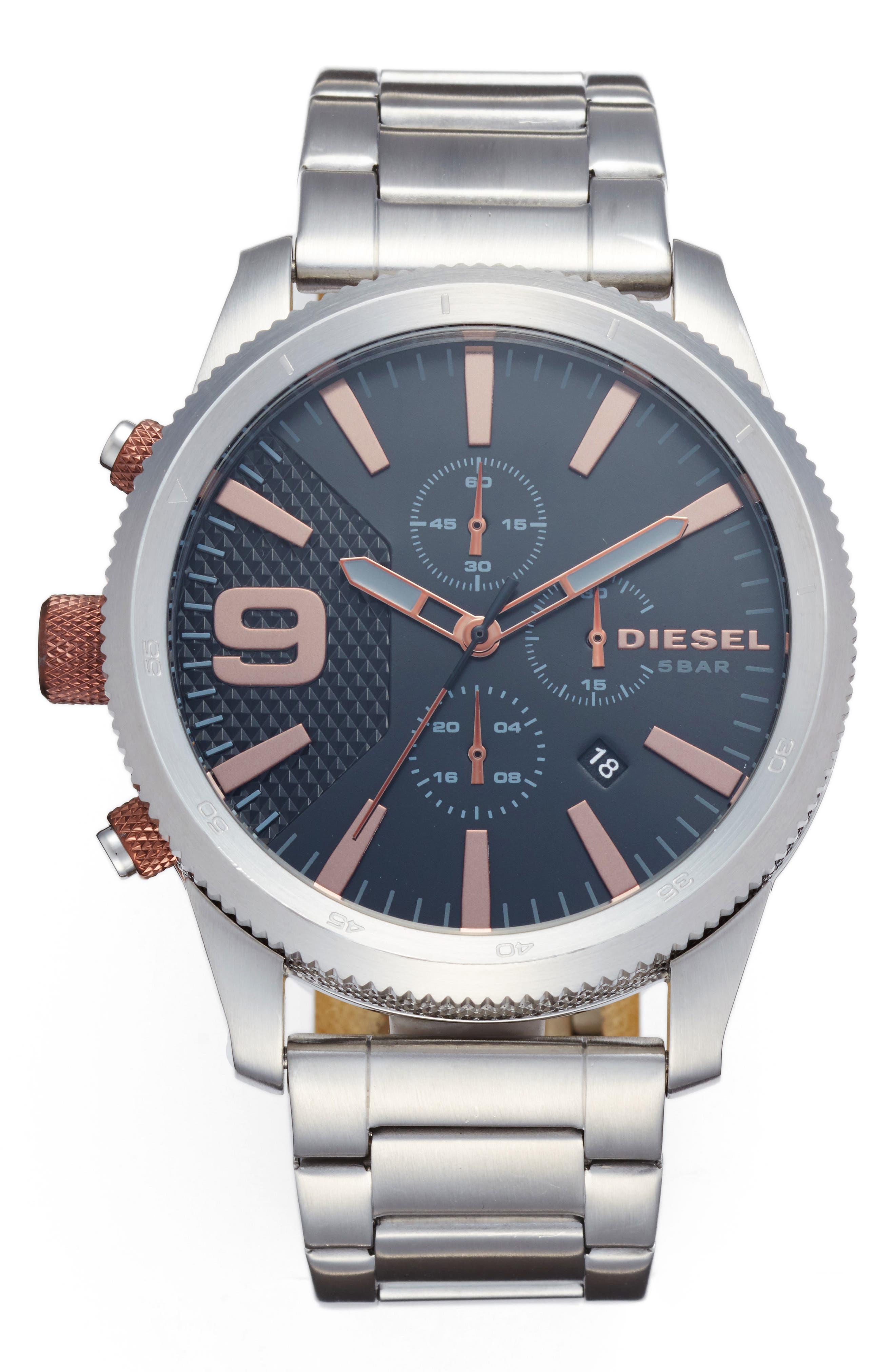 DIESEL<SUP>®</SUP> Chronograph Bracelet Watch, 46mm