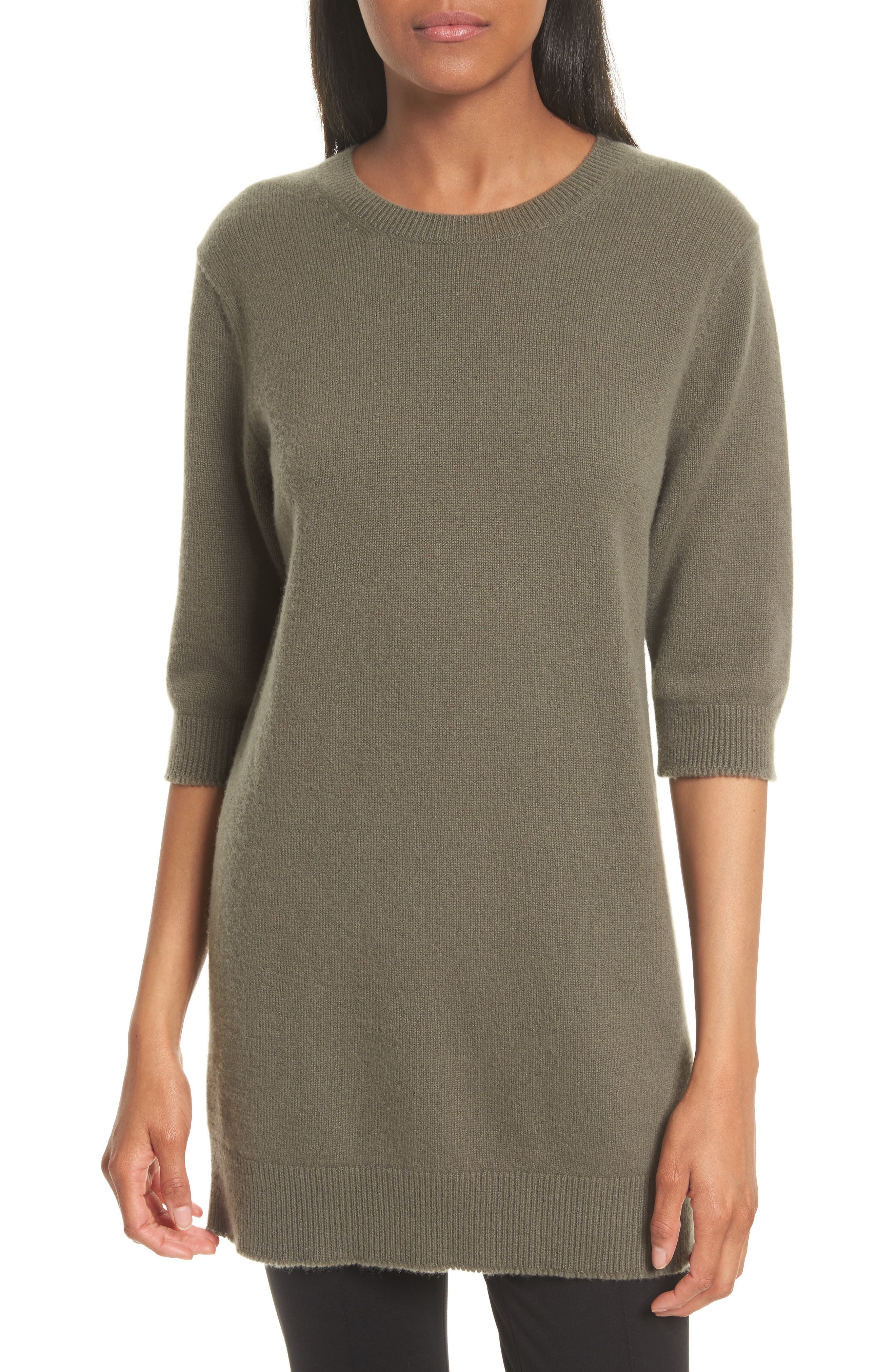 Vince Elbow Sleeve Cashmere Tunic