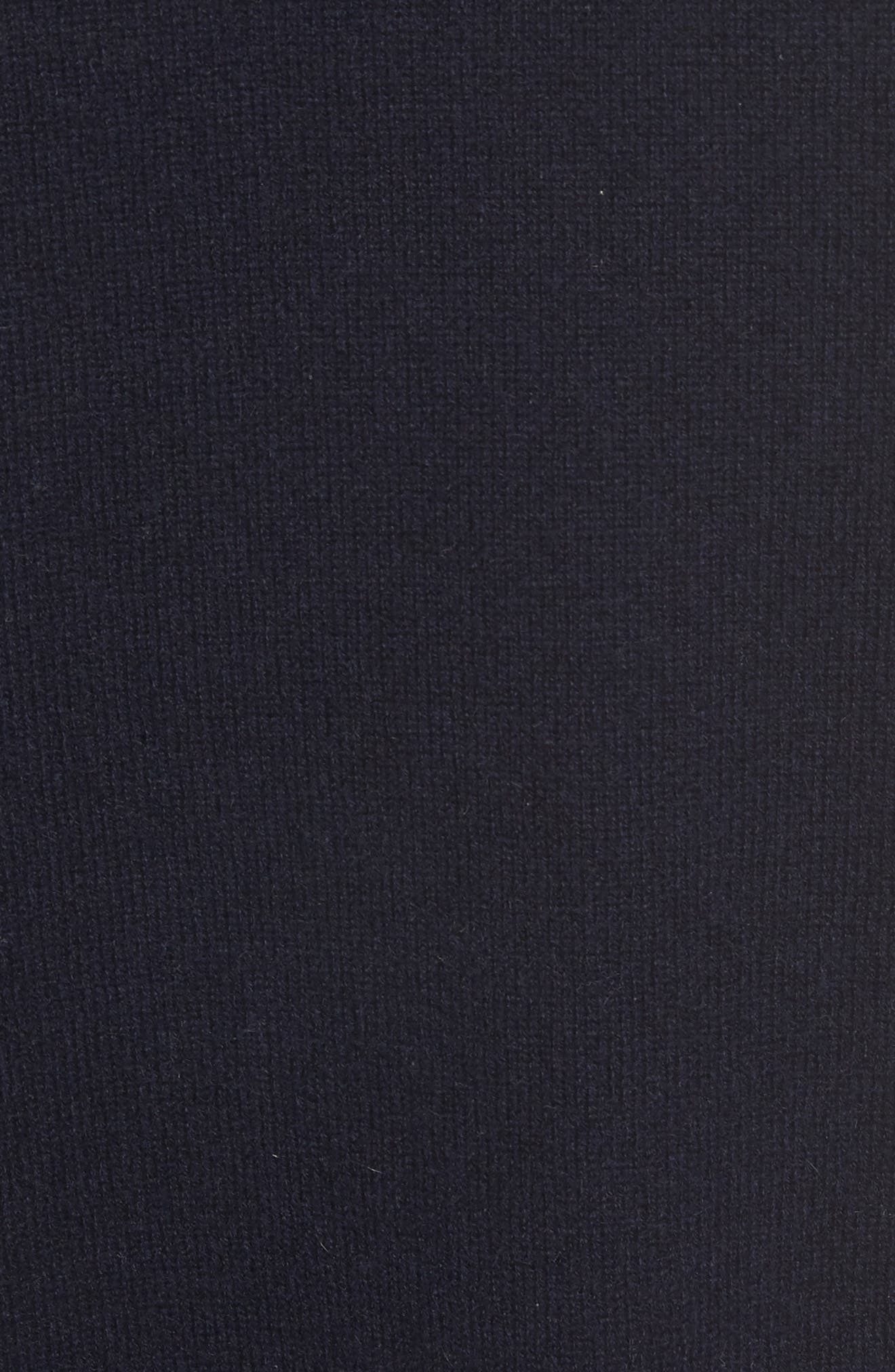 Cashmere Step Hem Sweater,                             Alternate thumbnail 5, color,                             Coastal